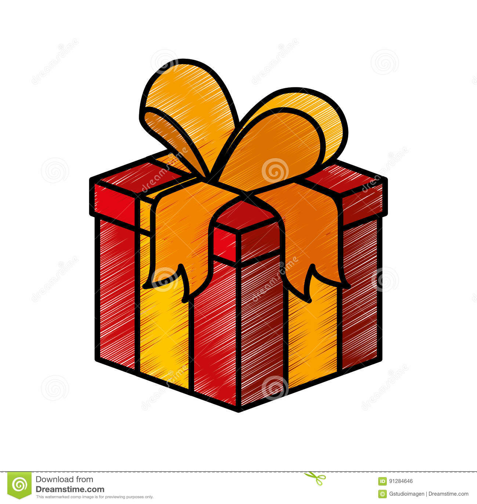 Symbol för gåva för gåvaask