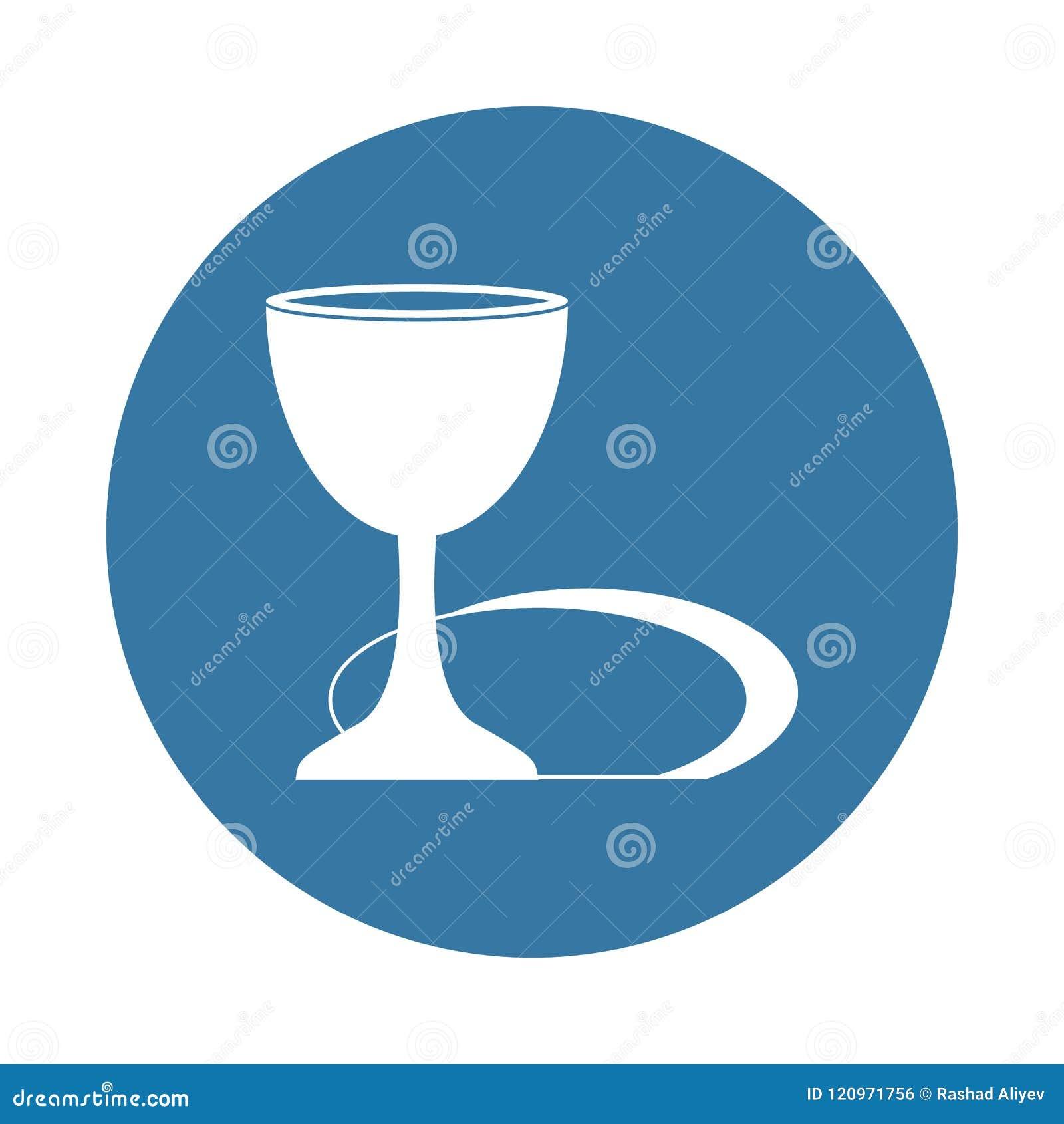 Symbol för helig gral i emblemstil