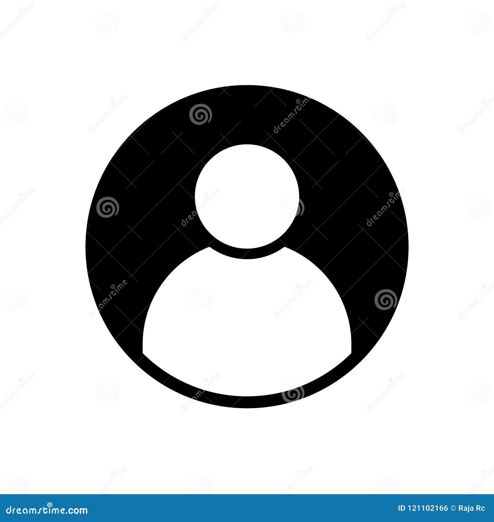 Symbol för heltäckande för svart för avatar för användareprofil