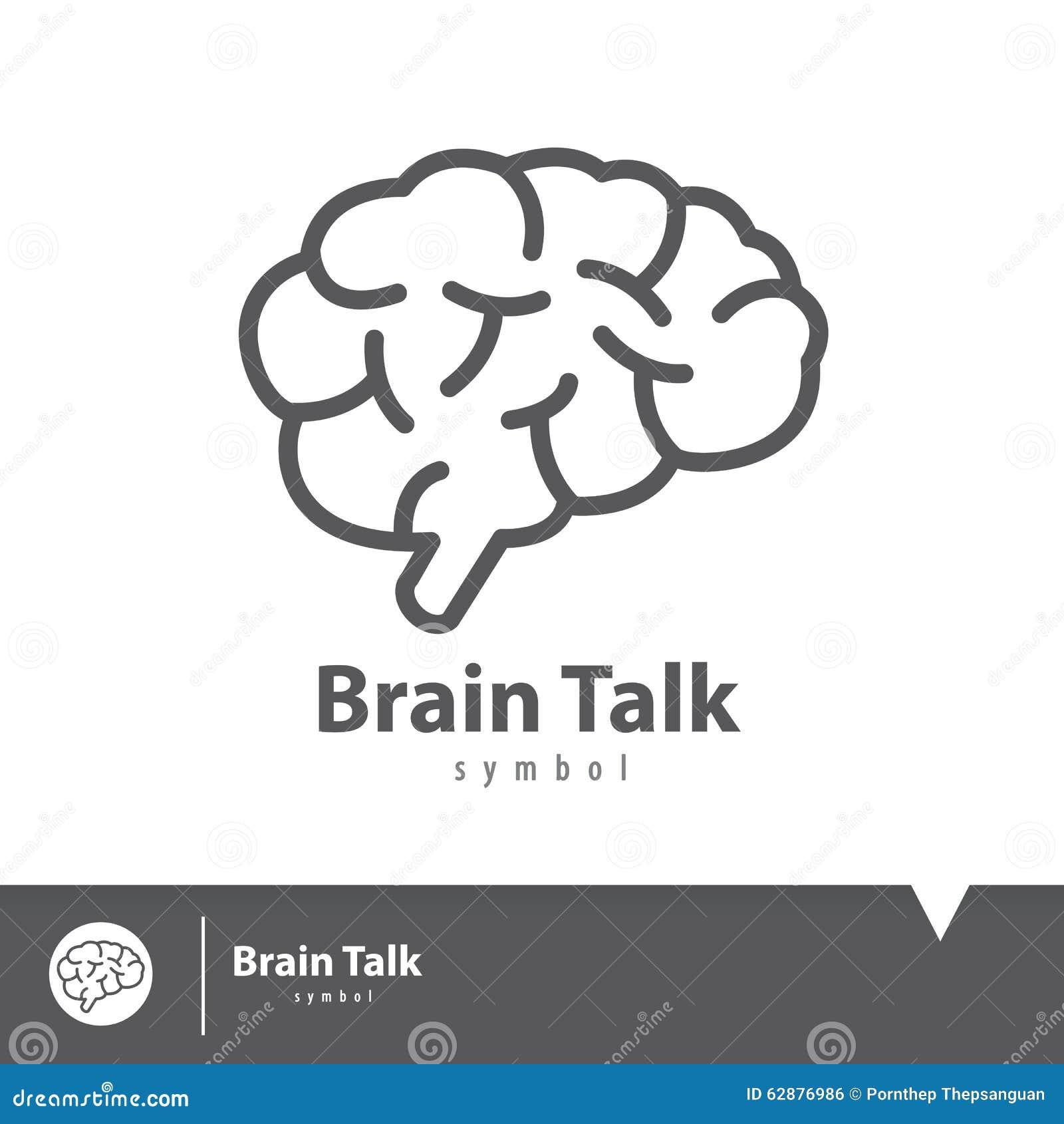 Symbol för hjärnsamtalsymbol