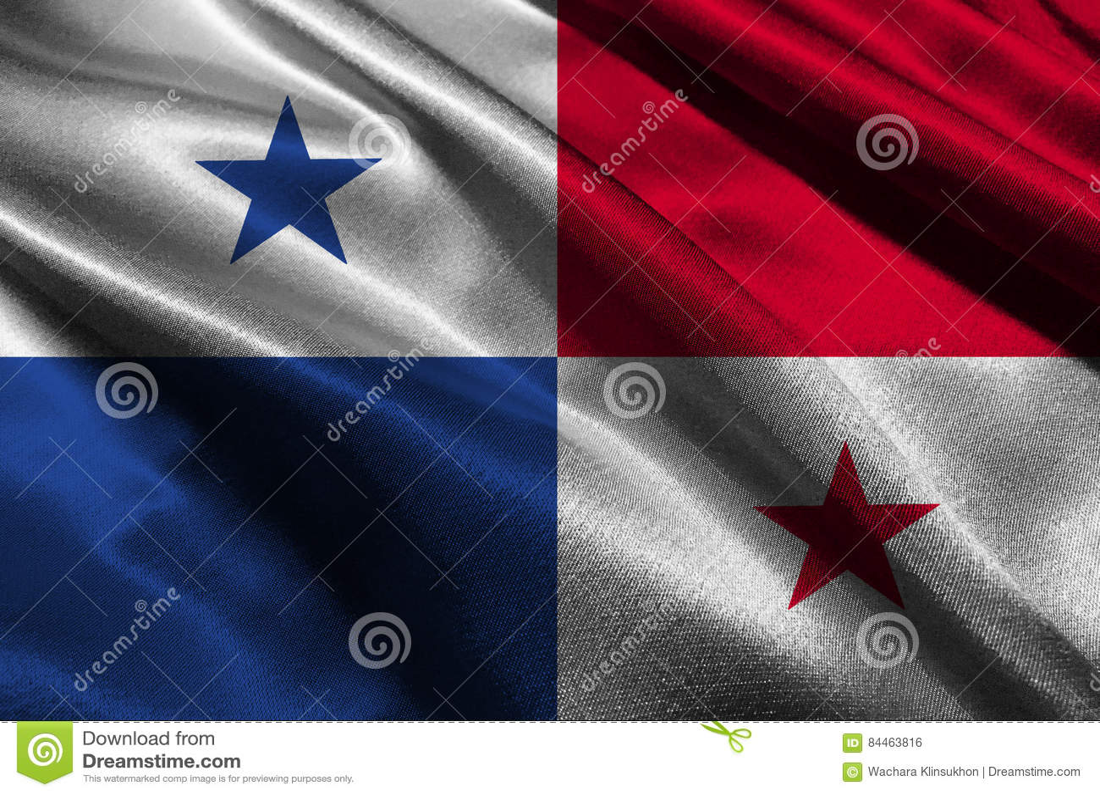 Symbol för illustration för Panama flagga 3D Panama flagga