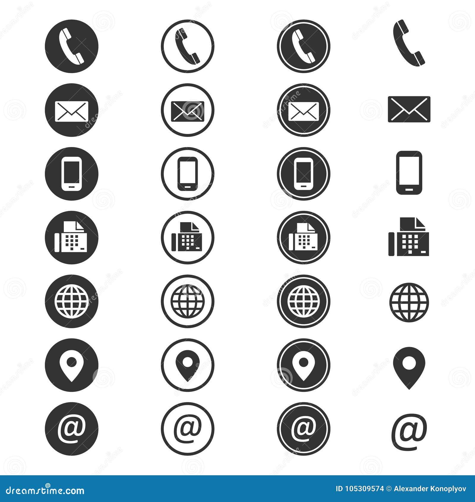 Symbol för information om kontakt