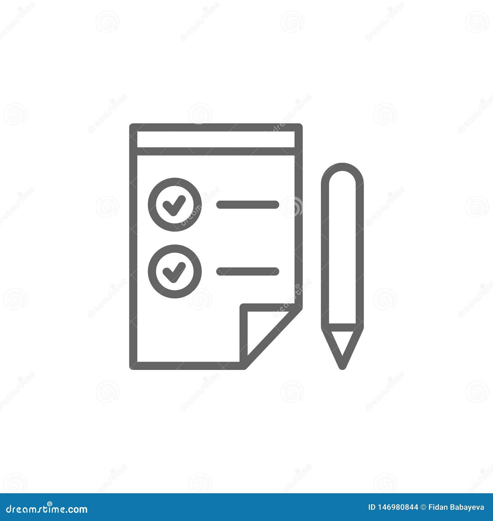 Symbol för kontrollistapennöversikt E r