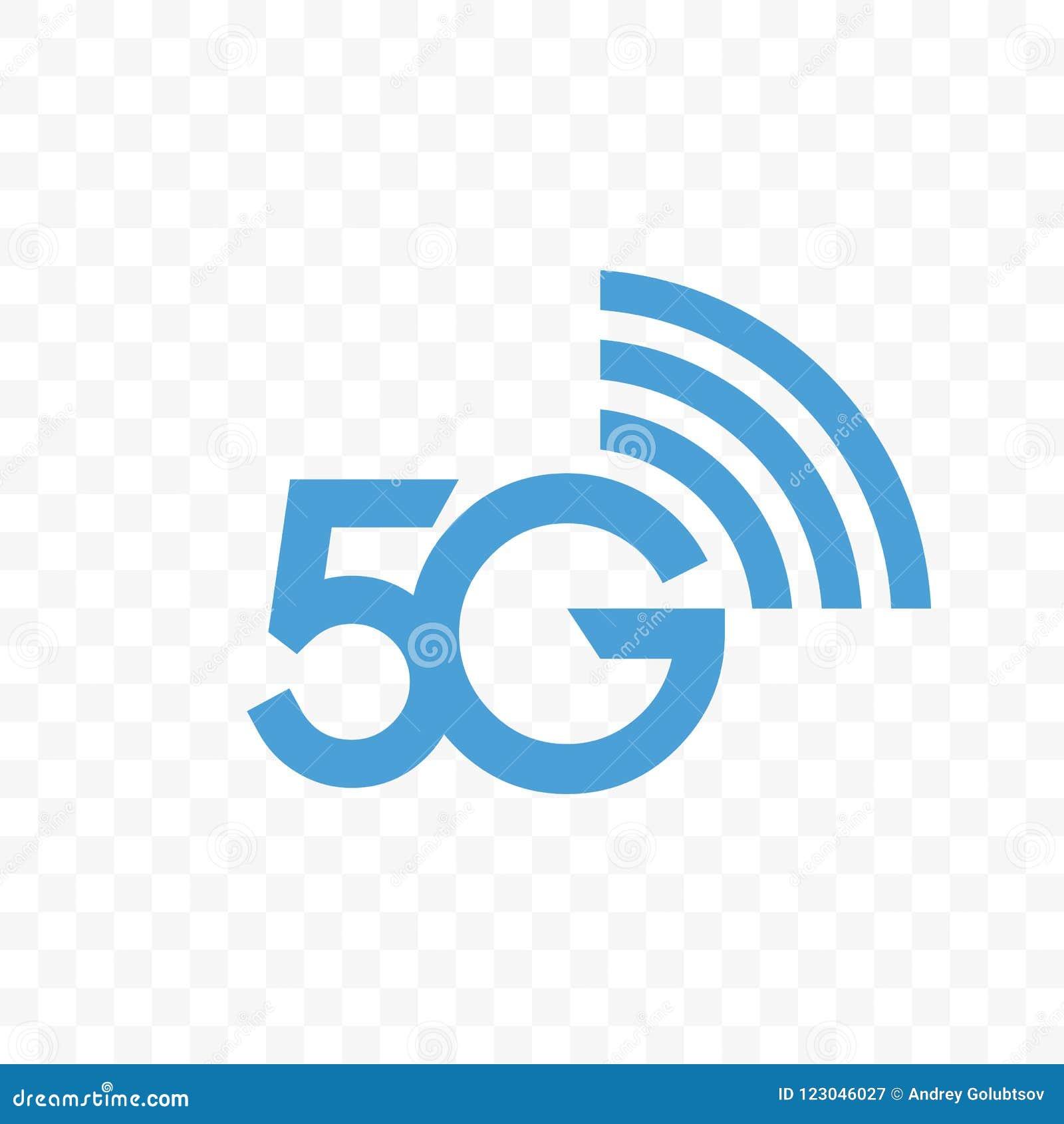 Symbol för logo för vektor för nätverk för internet 5G