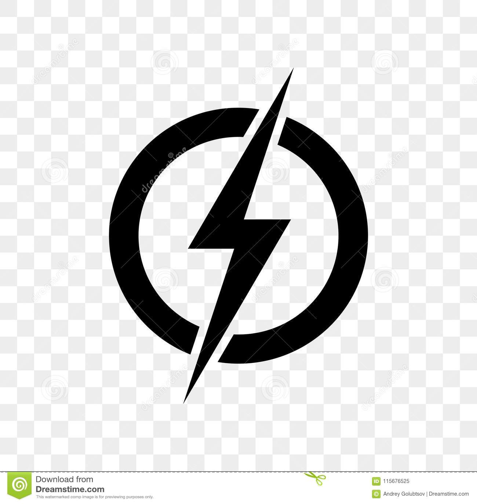 Symbol för maktblixtlogo För åskabult för vektor svart symbol