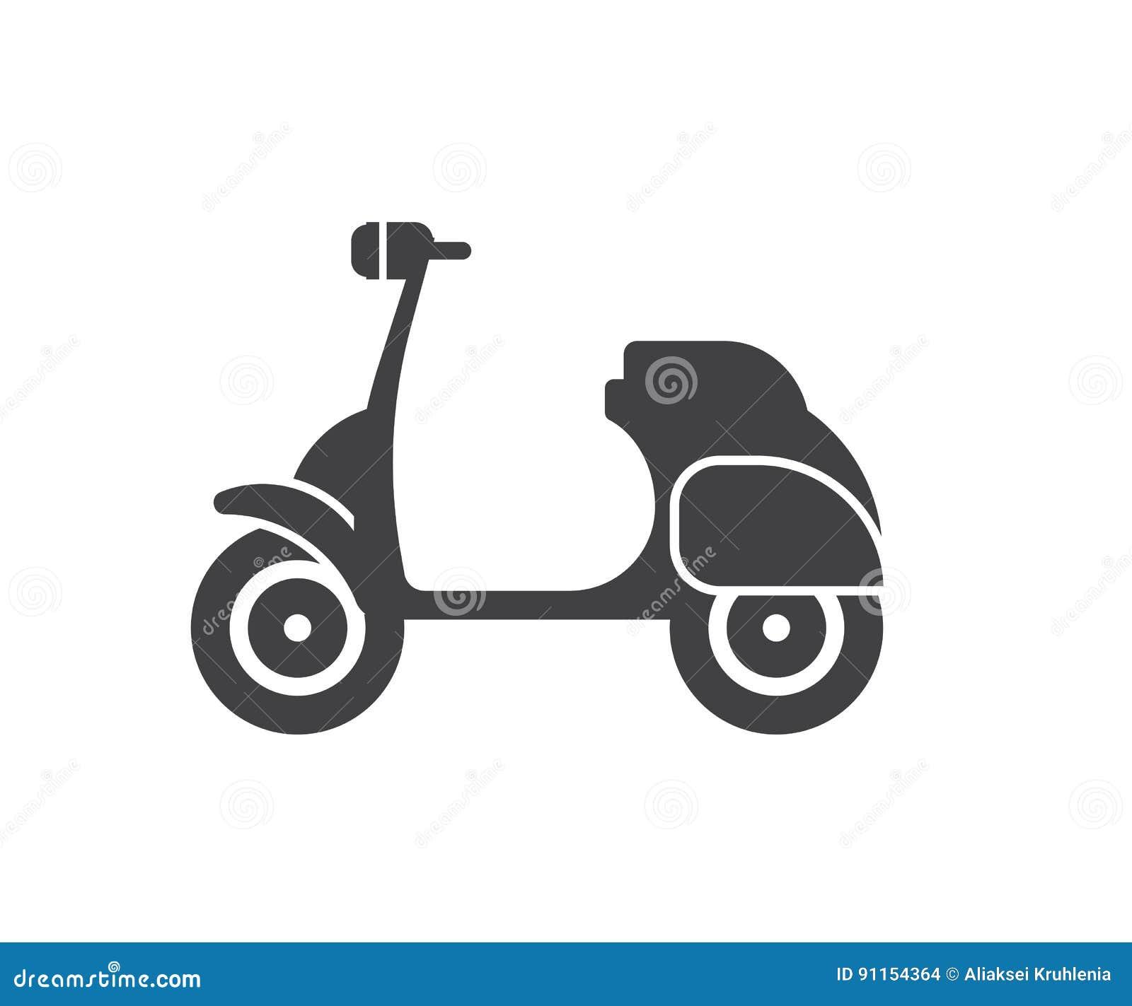 Symbol för motorisk sparkcykel