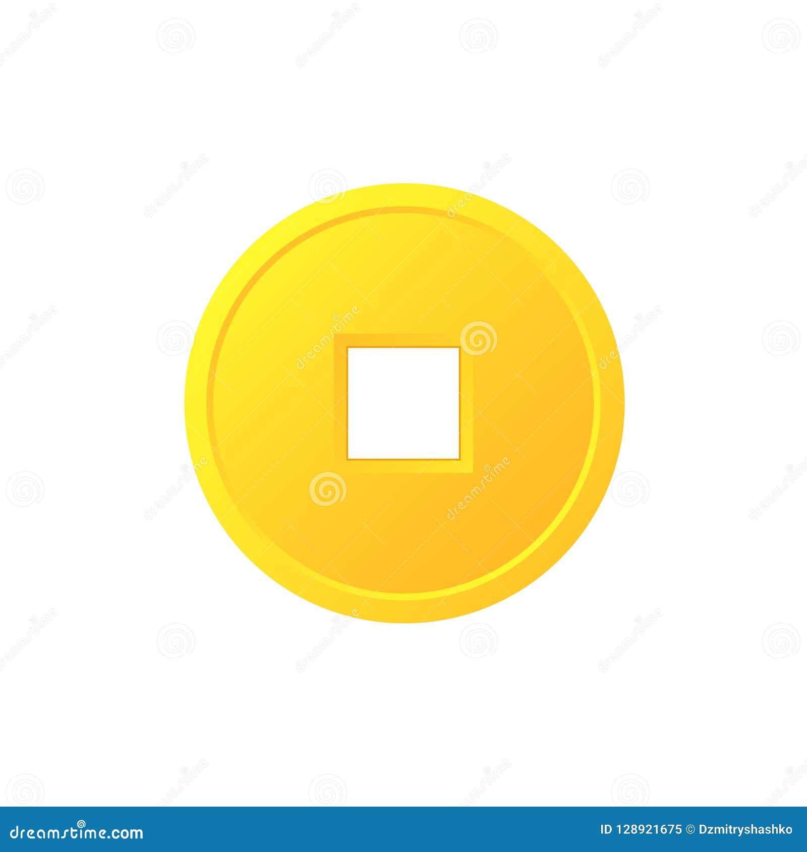 Symbol för mynt för Feng shui kinesisk