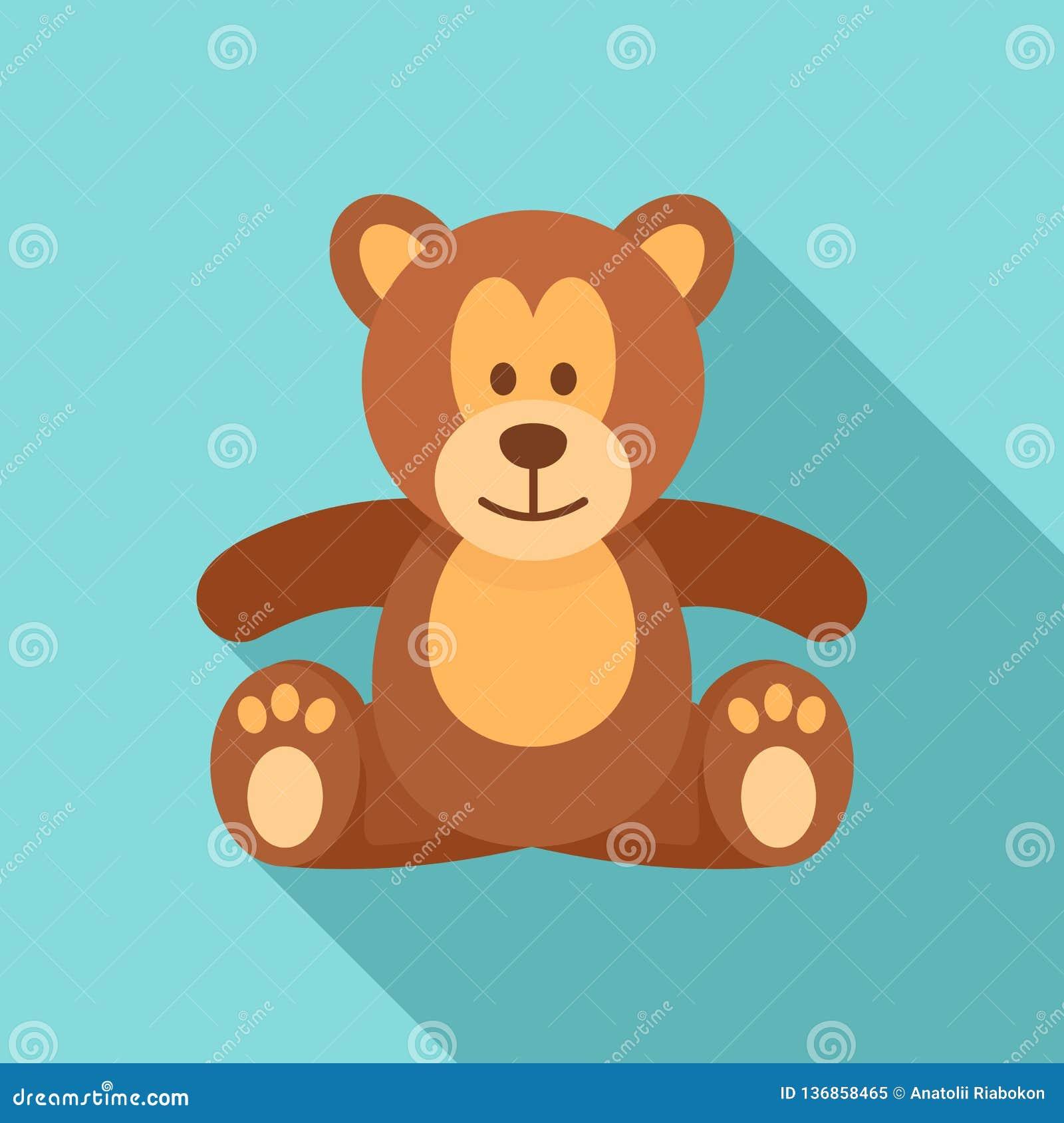 Symbol för nallebjörn, lägenhetstil