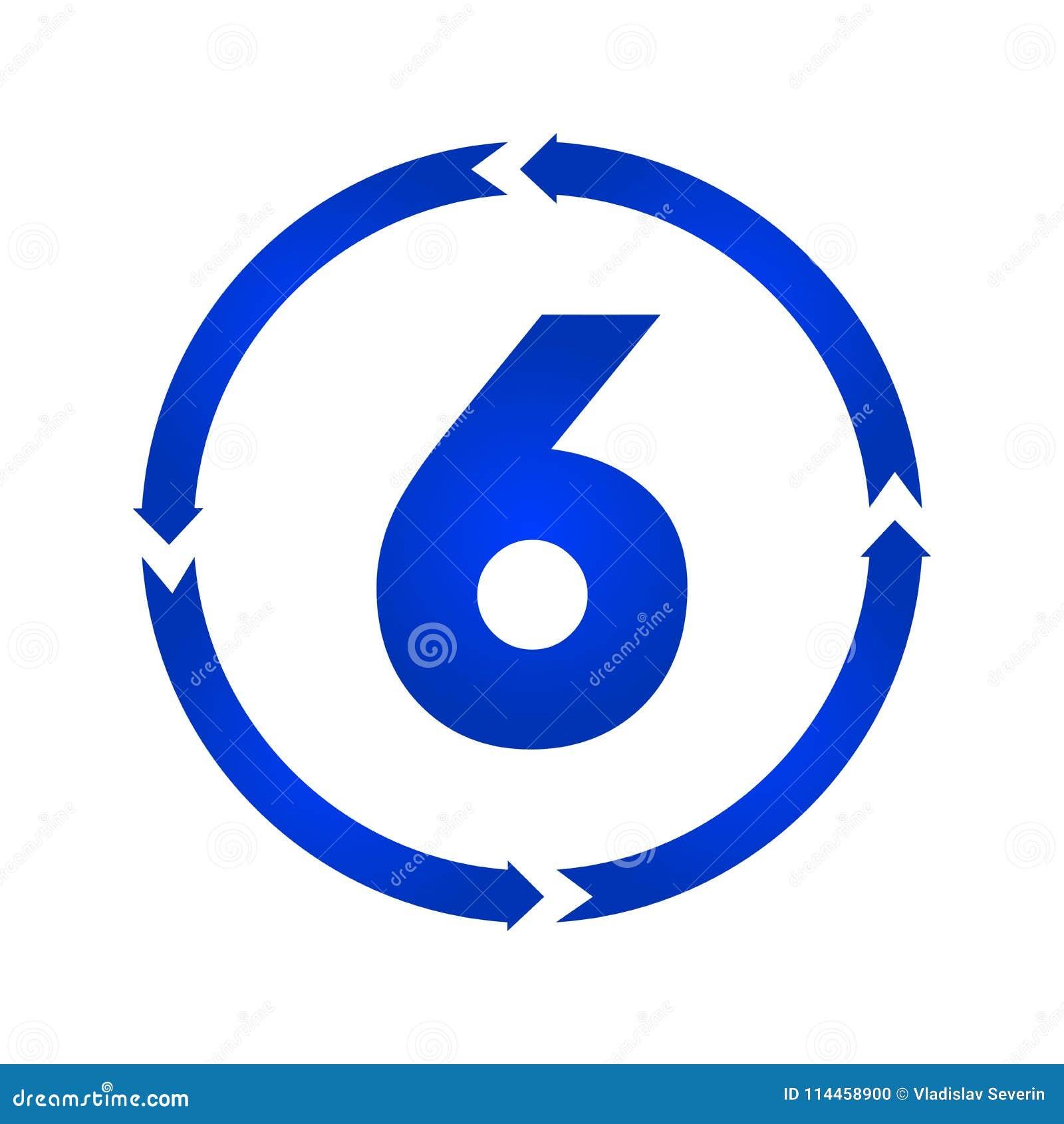Symbol för nummer 6