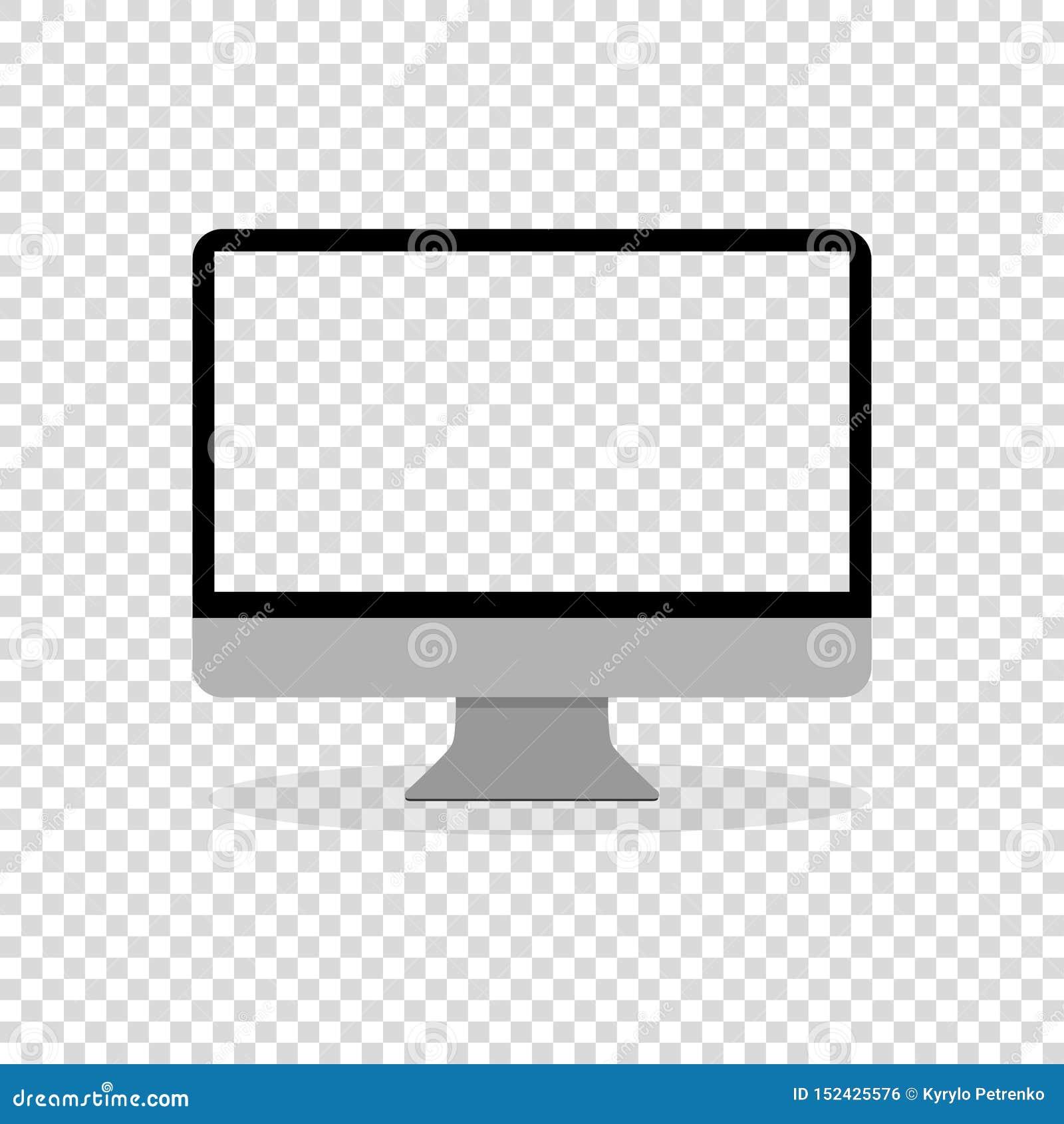 Symbol för plan design för bildskärm för datorskärm trevlig