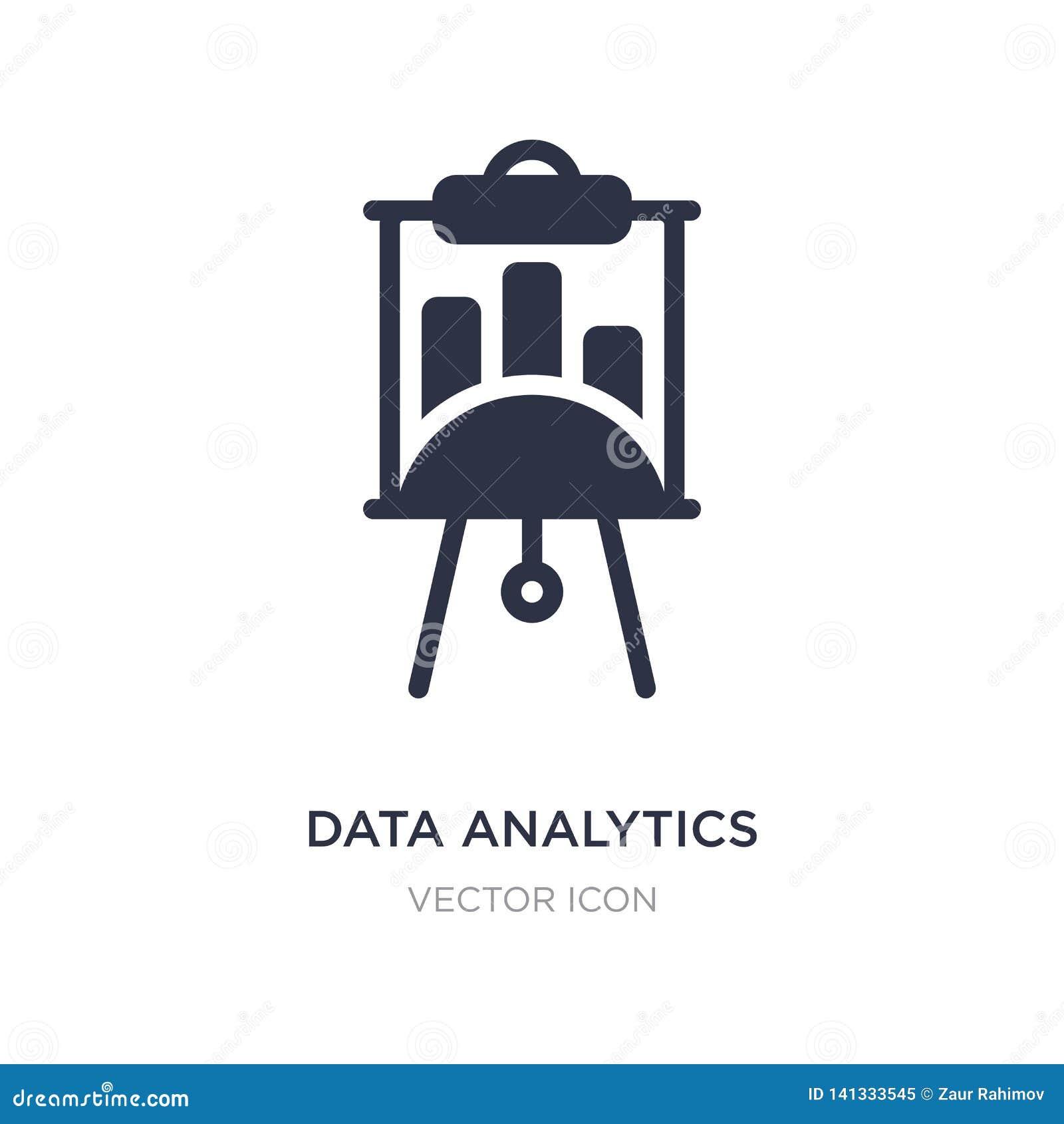 Symbol för skärm för dataanalyticspresentation på vit bakgrund Enkel beståndsdelillustration från affärsidé