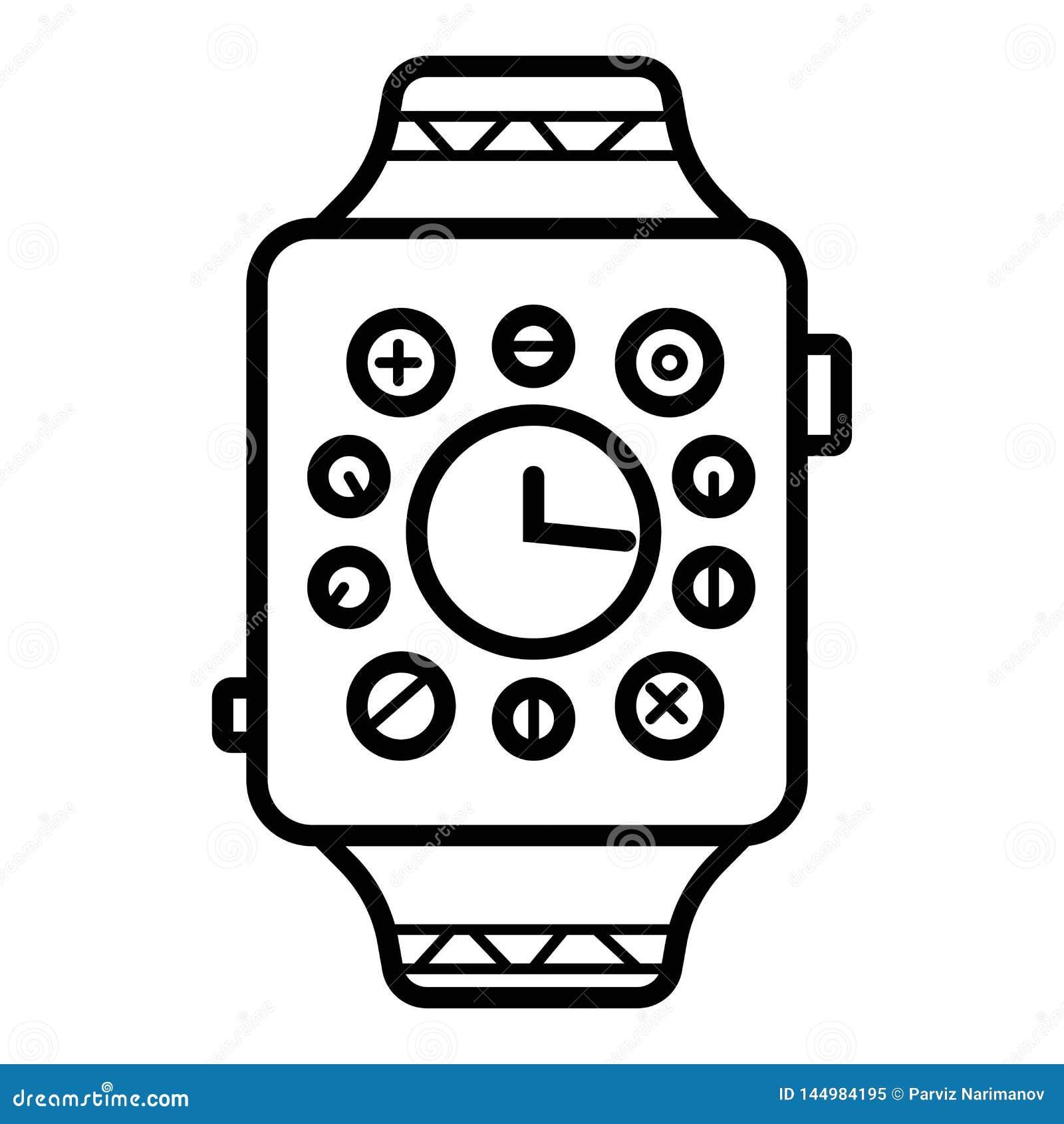 Symbol för Smartwatch klockaSmart vektor