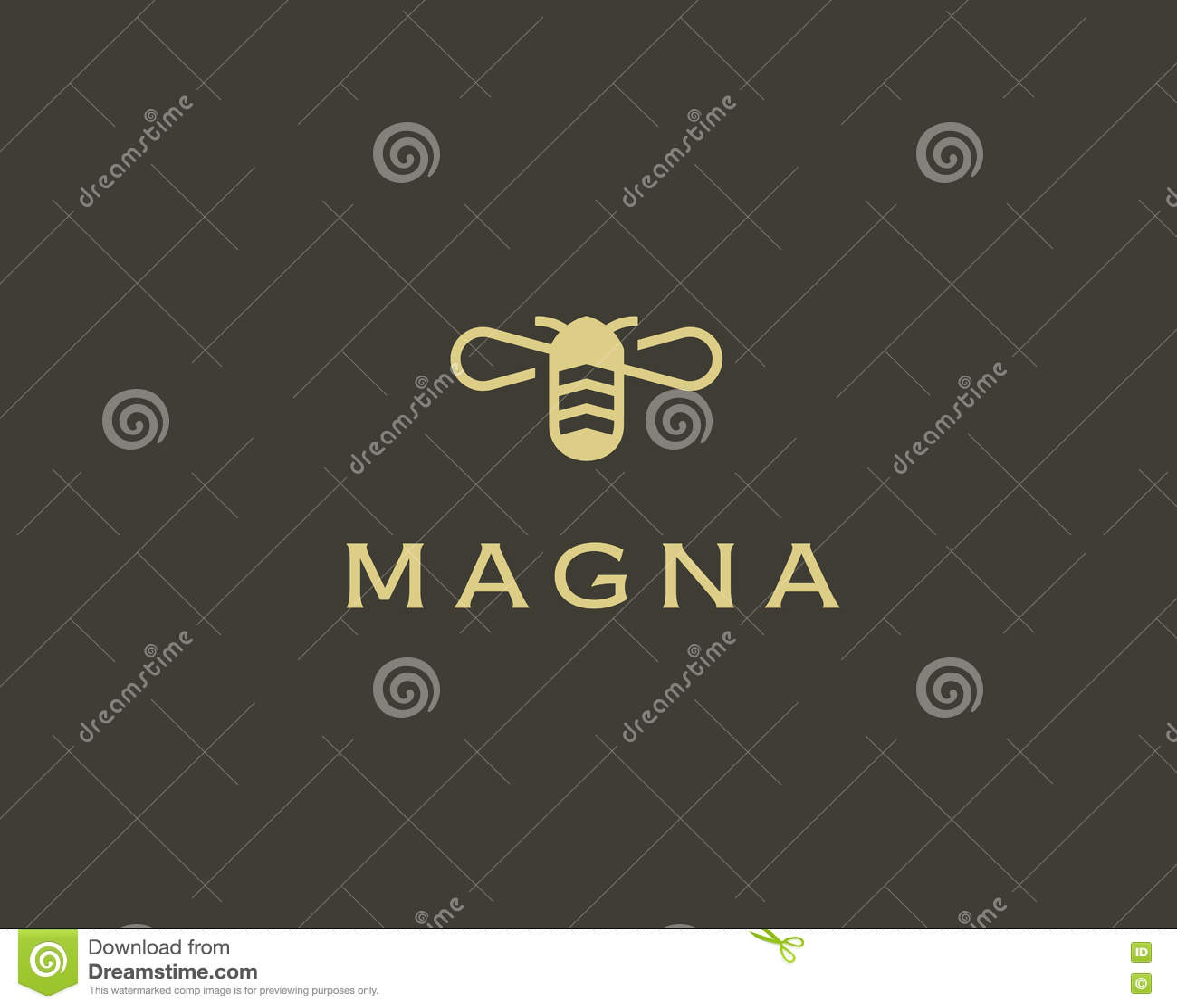 Symbol för symbol för vektor för bihonung idérikt Hårt arbetelogotyp Bikupalogodesign