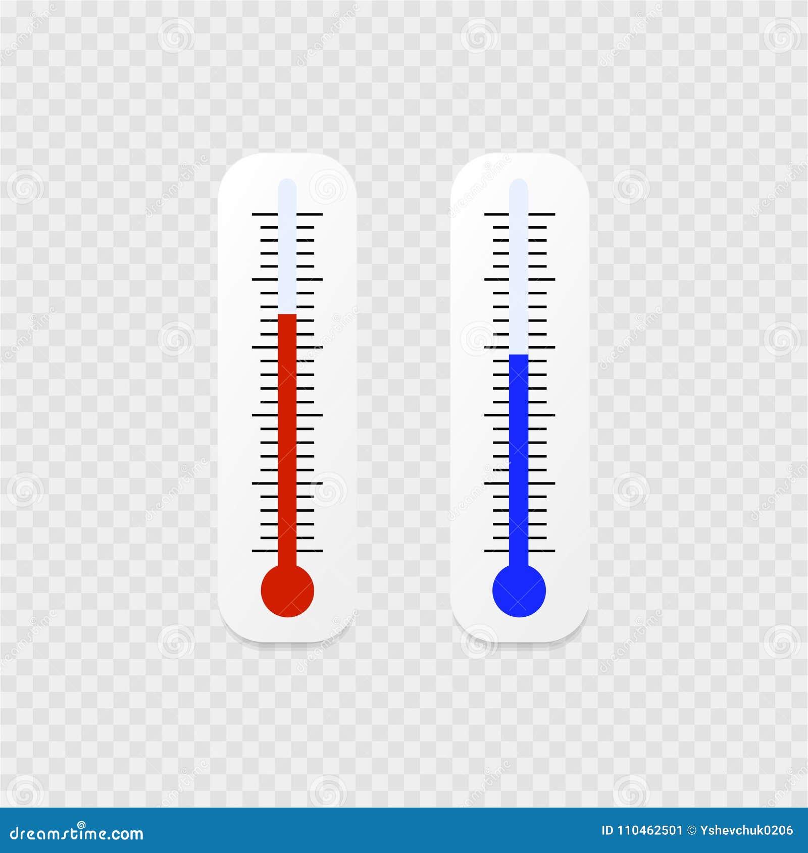 Symbol för två vit termometrar på en grå bakgrund