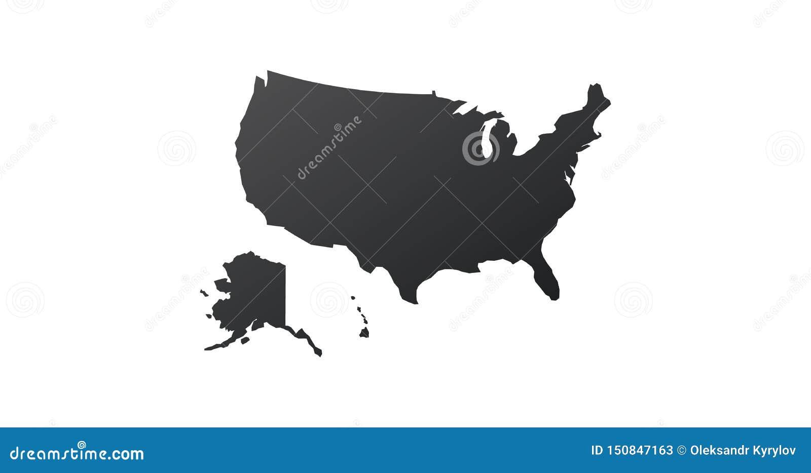 Symbol för USA Förenta staternaöversikt ?versiktskontur Vektorillustration som isoleras p? vit bakgrund