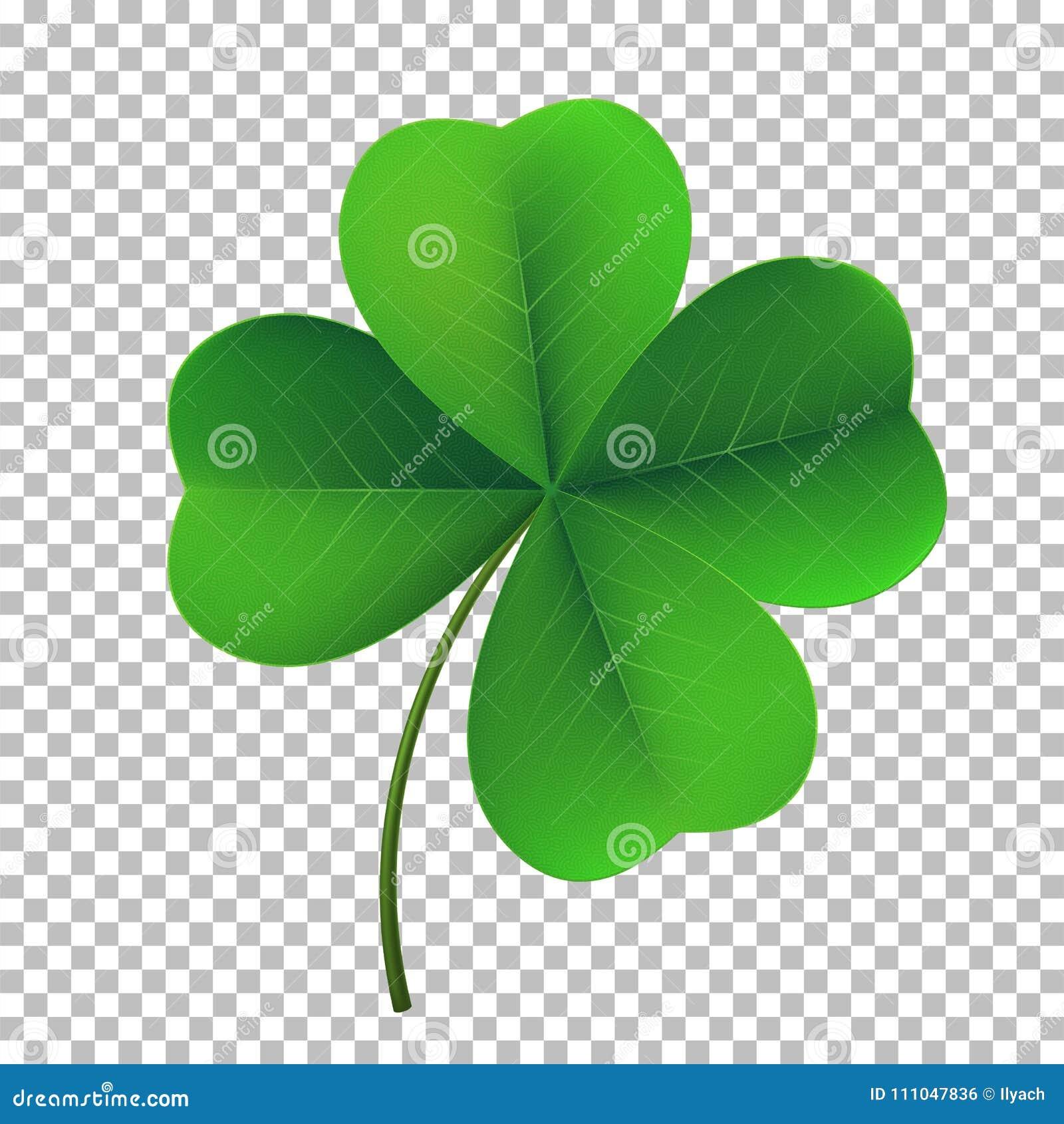 Symbol för växt av släktet Trifolium för vektorfyra-blad treklöver Lyckligt fower-sprucket ut symbol av den irländska dagen för ö