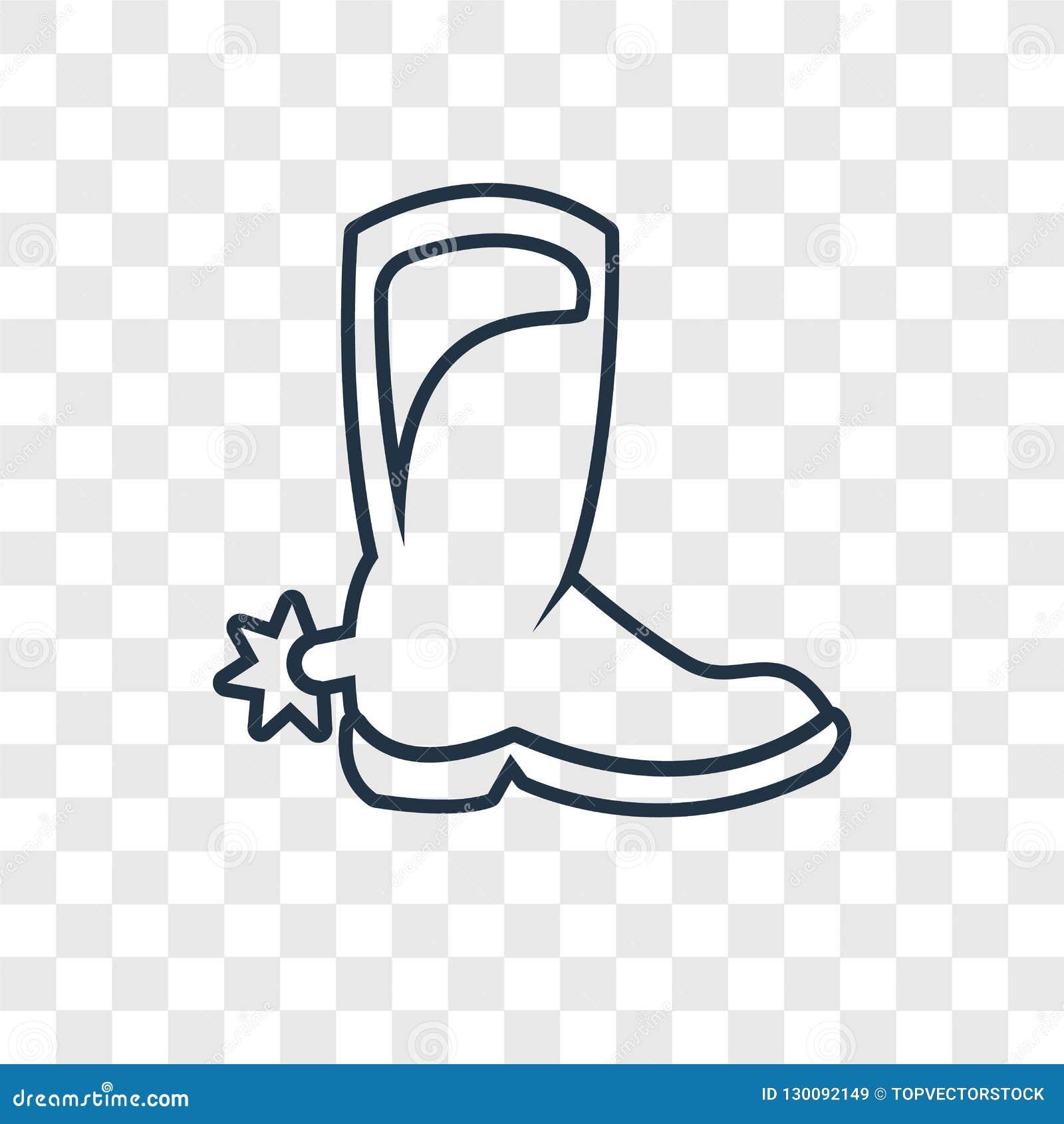 Symbol för vektor för begrepp för cowboyhatt som linjär isoleras på genomskinliga lodisar