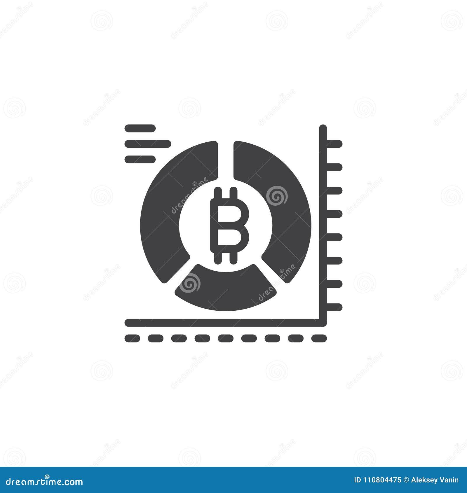 Symbol för vektor för Bitcoin pajdiagram