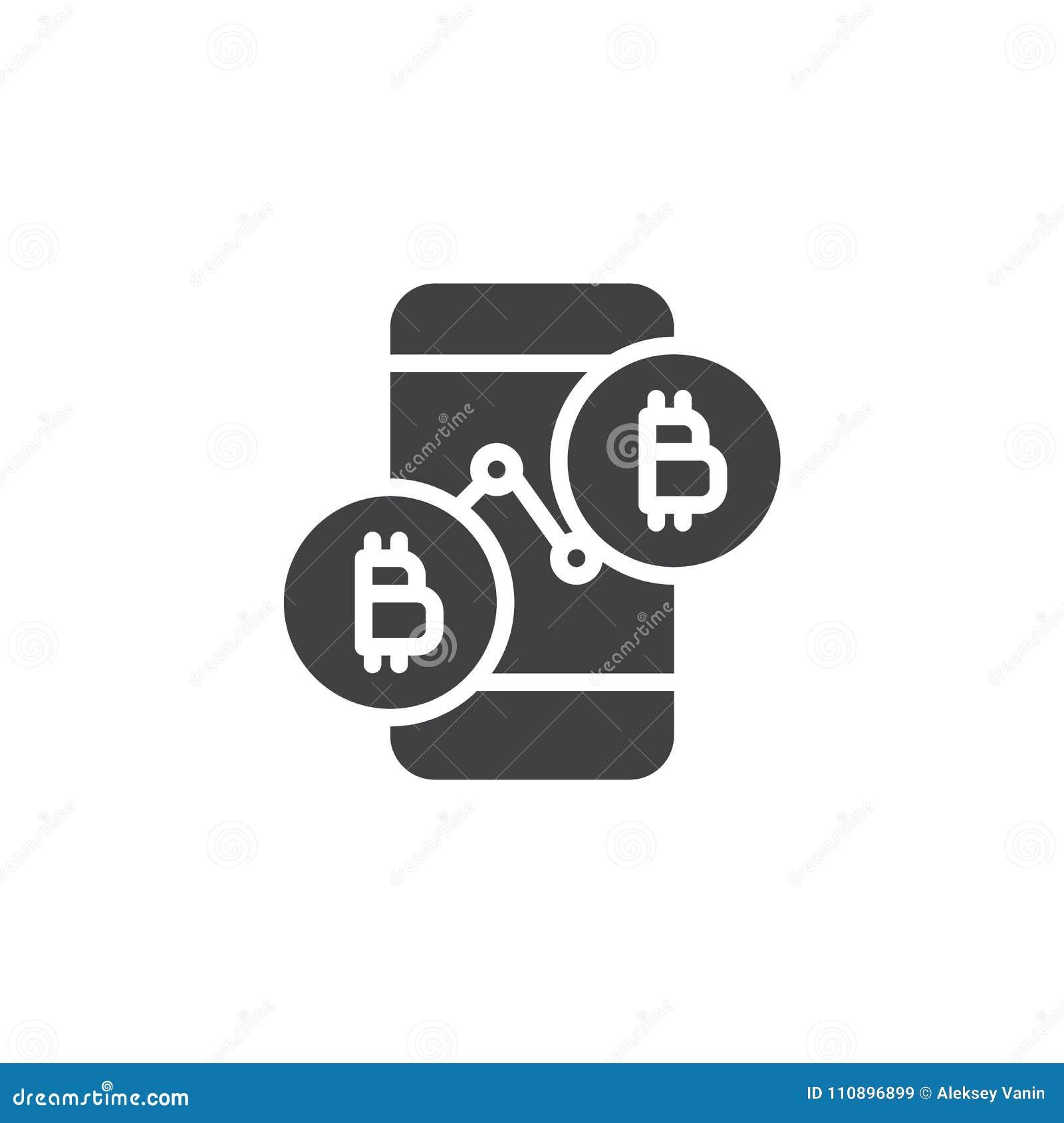 Symbol för vektor för Bitcoin prisdiagram