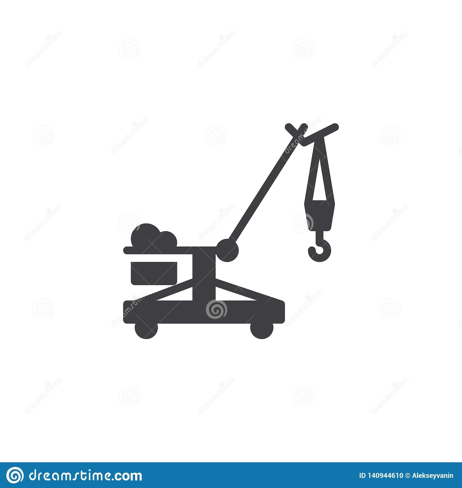 Symbol för vektor för crawlsimmarekran