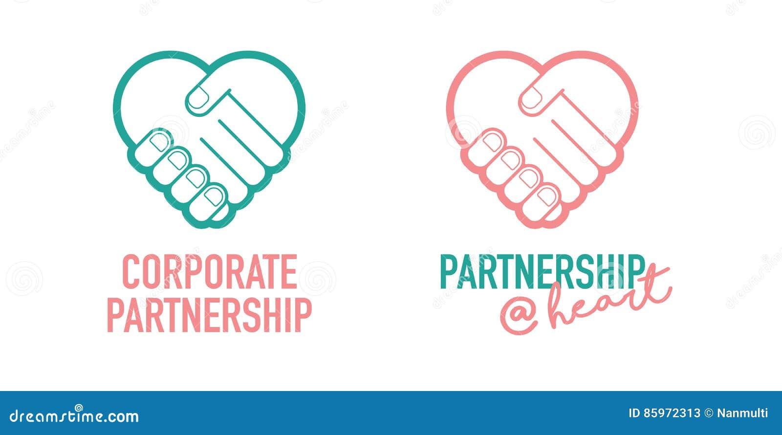 Symbol för vektor för avtal för handel för handskakning för företags partnerskapaffär lyckad
