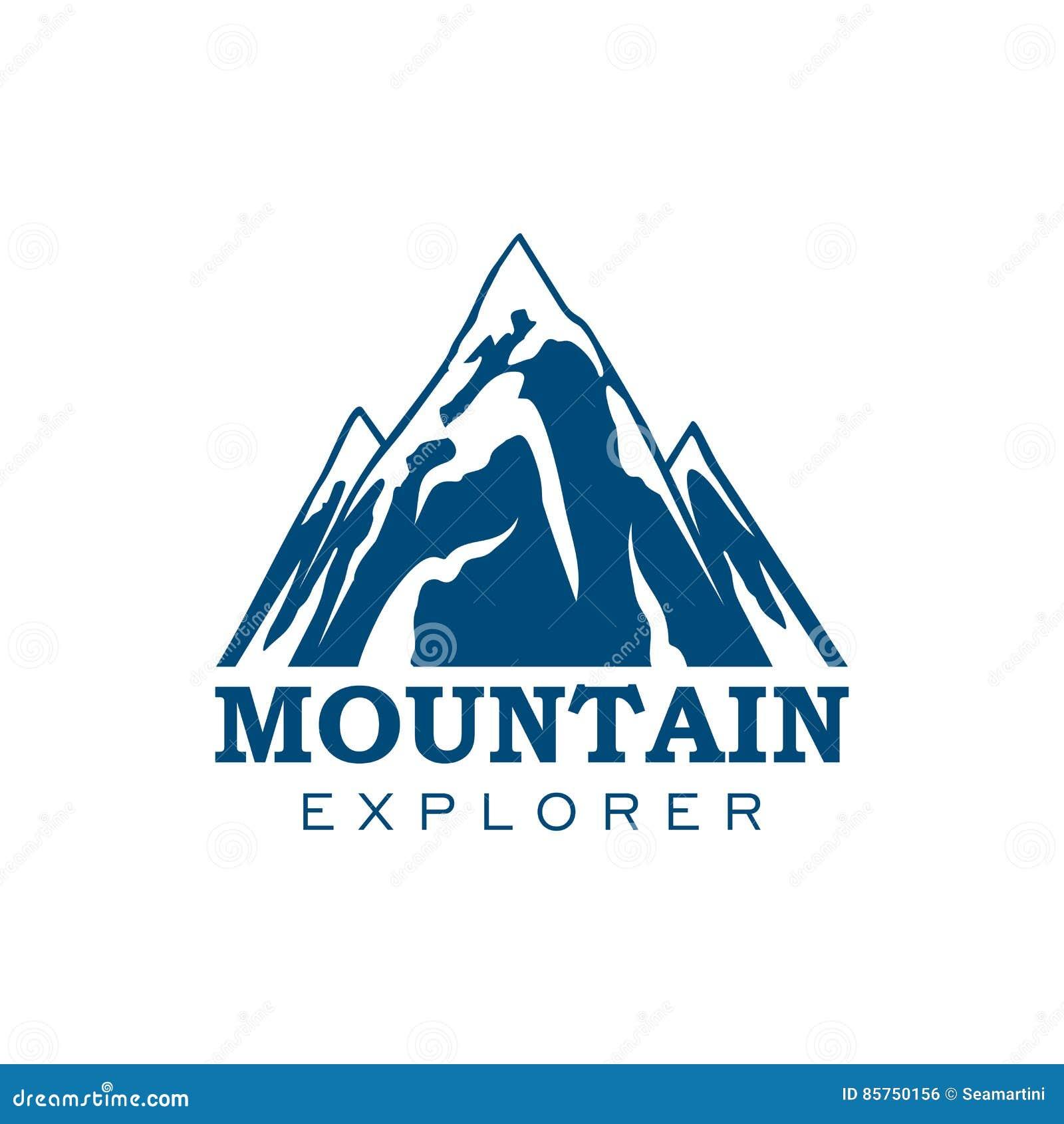 Symbol för vektor för sport för bergutforskareexpedition