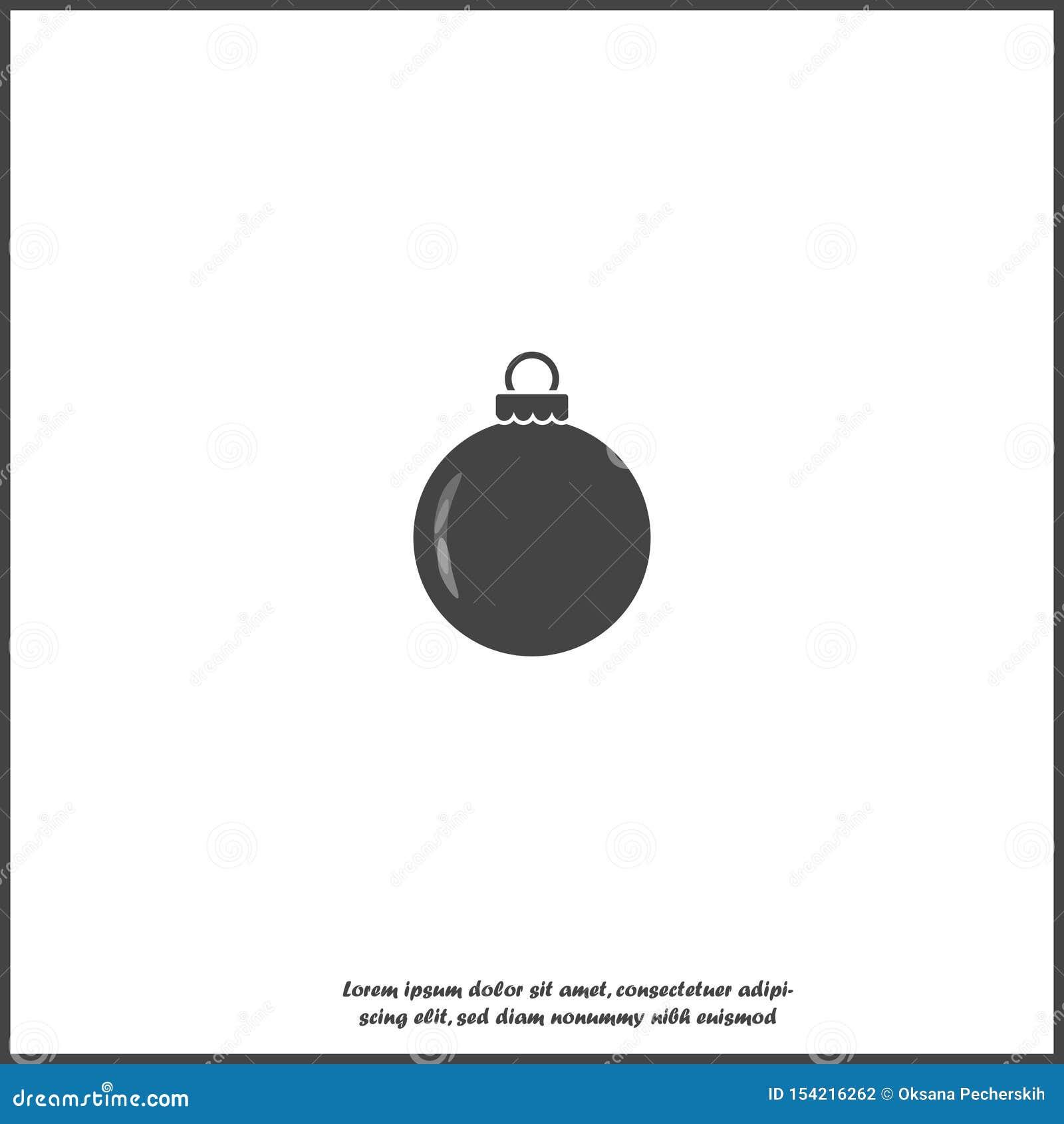Symbol för vektor för julbollgarnering på vit isolerad bakgrund Lager som grupperas f?r l?tt redigerande illustration