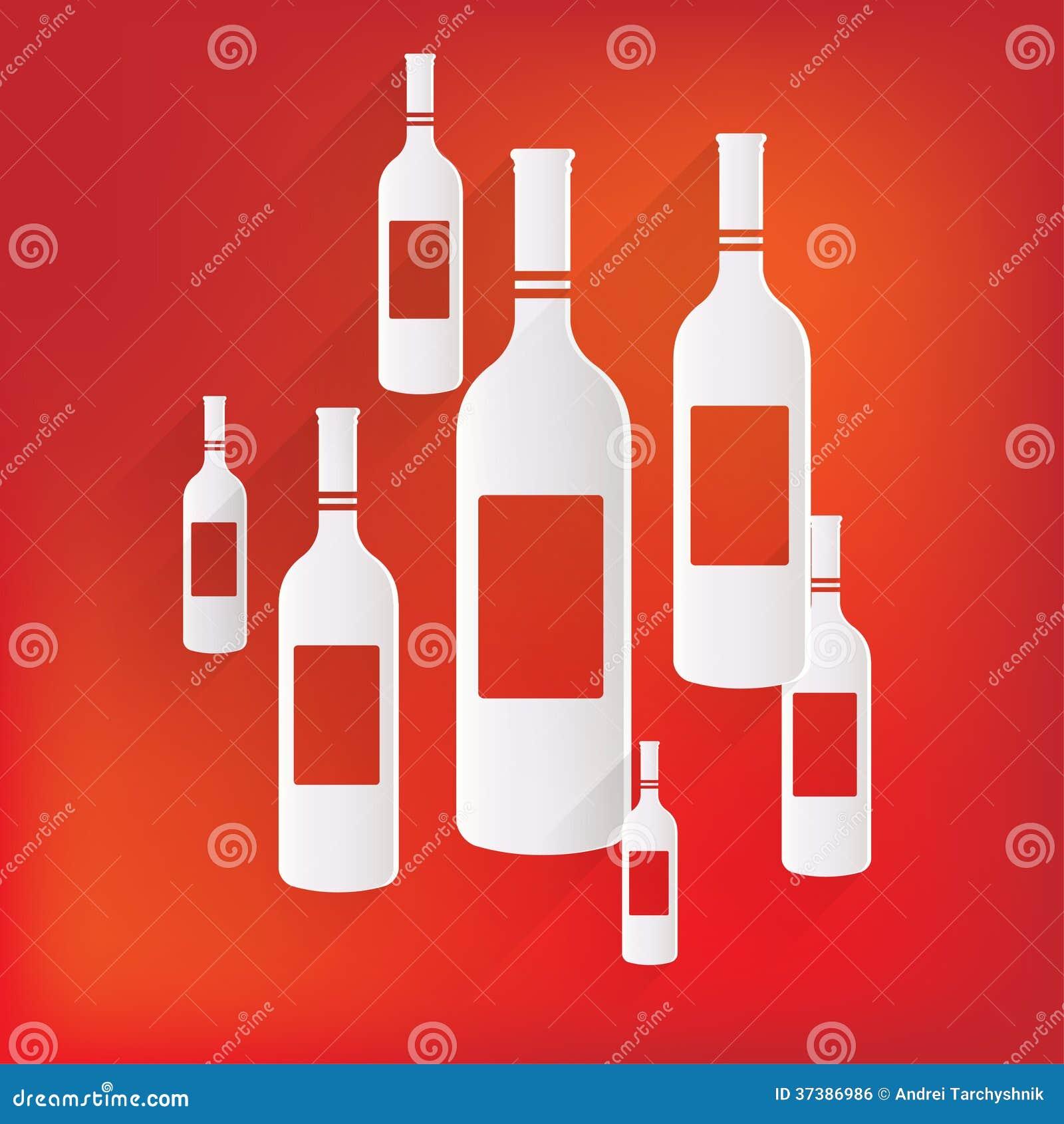 Symbol för vinflaska