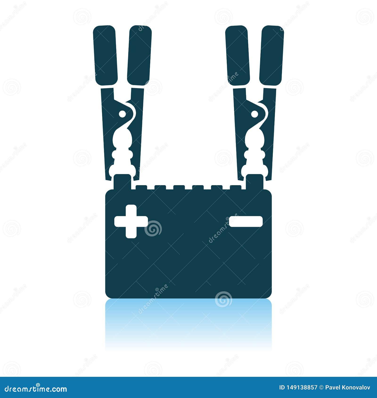 Symbol f?r laddning f?r bilbatteri