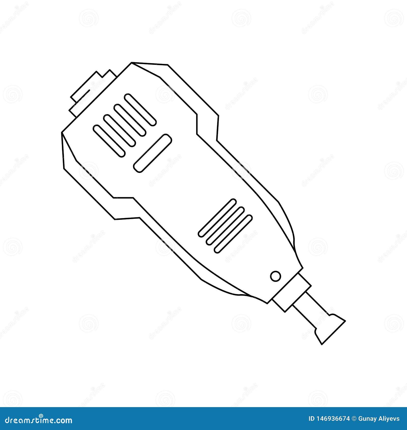 Symbol f?r f?rgkonstruktionsmaskin Best?ndsdel av konstruktionshj?lpmedel f?r mobilt begrepp och reng?ringsdukappssymbol ?versikt