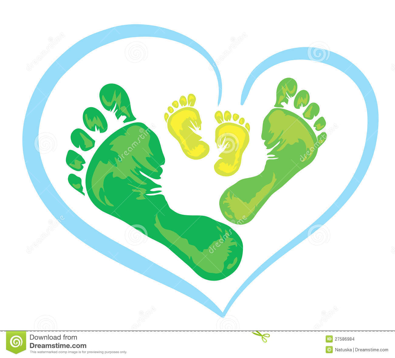 Symbol of family foot print stock illustration illustration of royalty free stock photo biocorpaavc Gallery