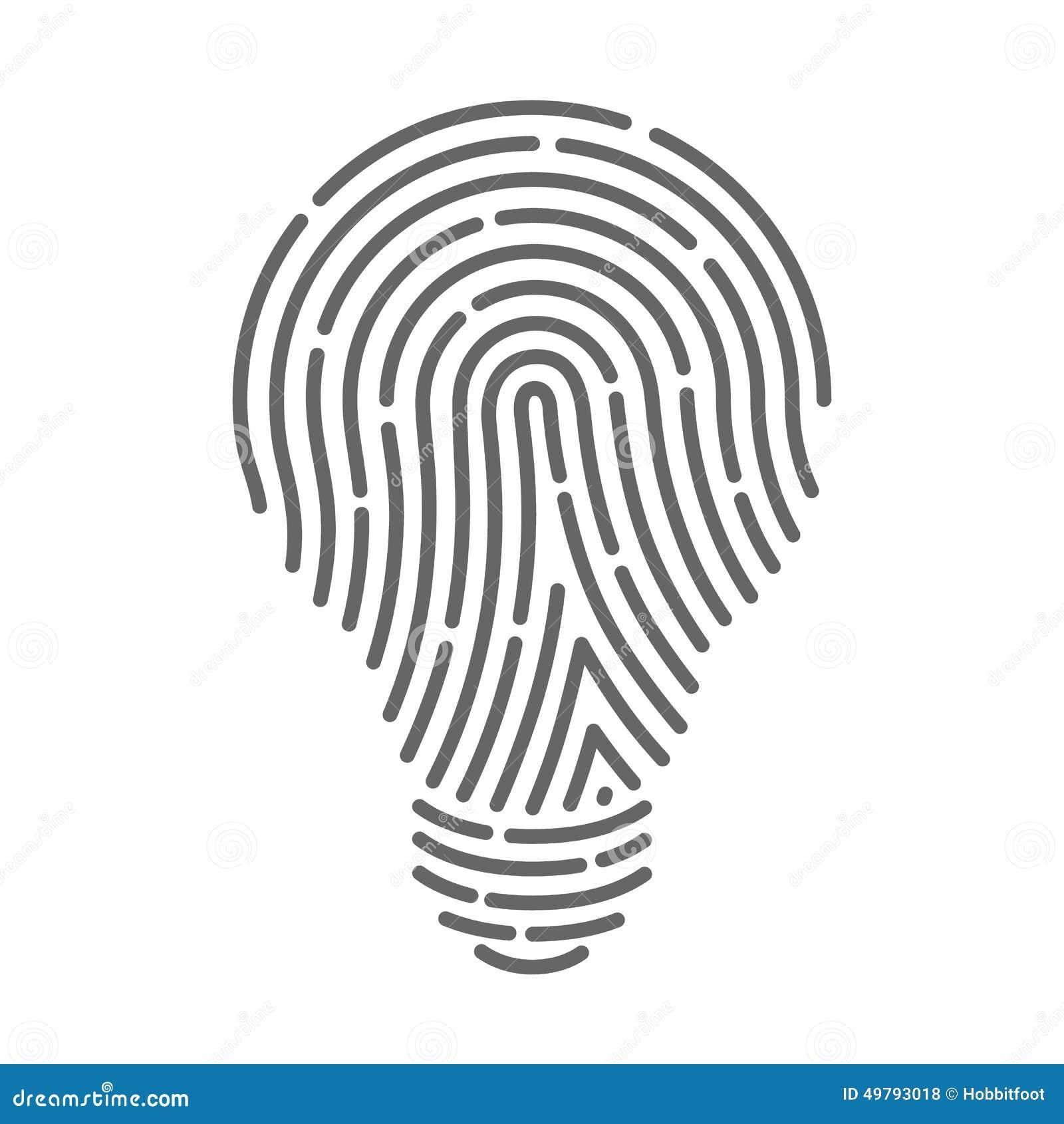 Symbol Fingerprint As Light Bulbs Stock Vector - Image ...