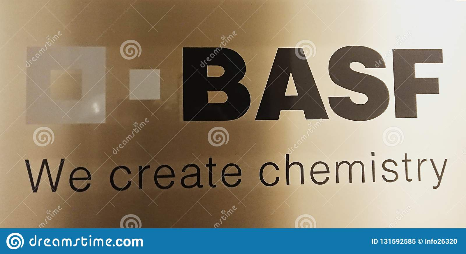 Symbol Of The German Chemical Company BASF Editorial Image