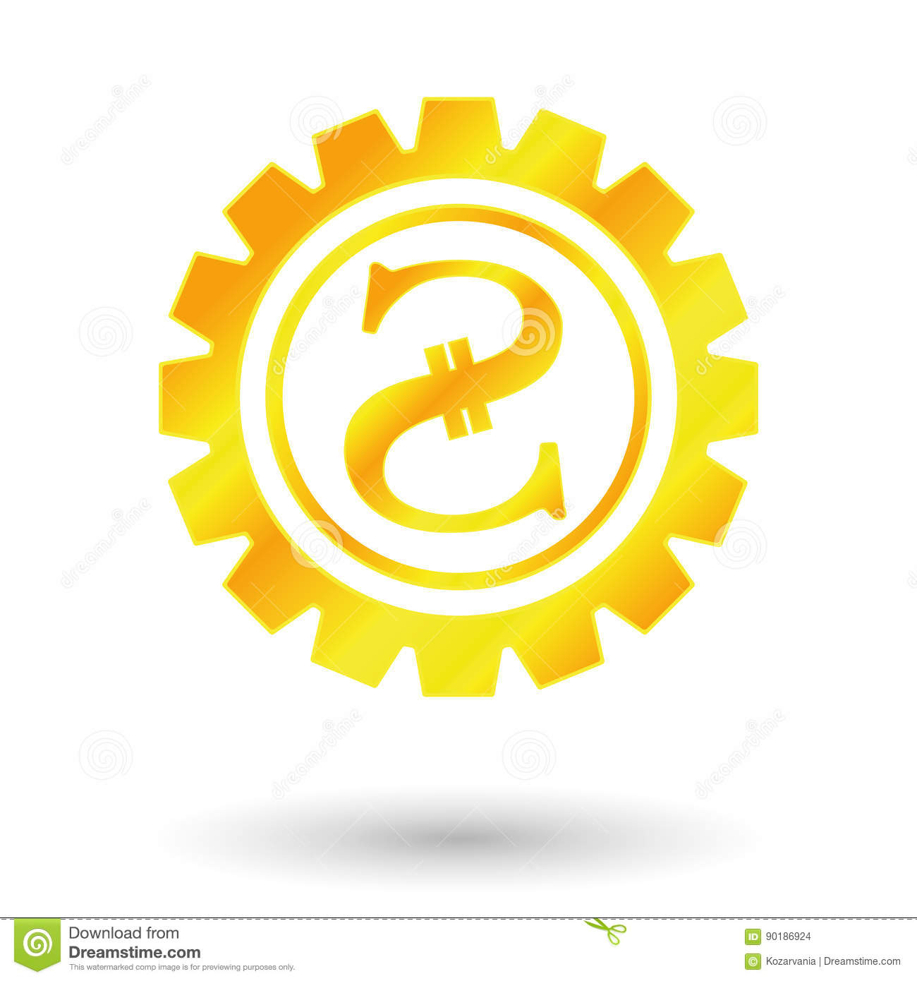 Symbol Gold Ukraine Stock Photo Image Of Mechanism Earnings 90186924