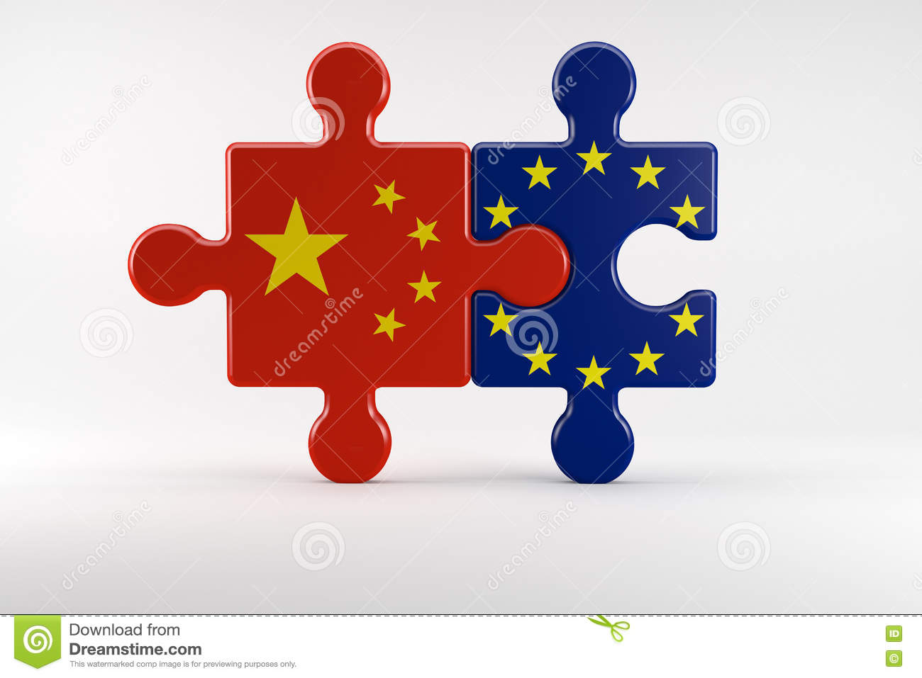 Symbol Of Good Relations Between China And The Eu Stock Illustration