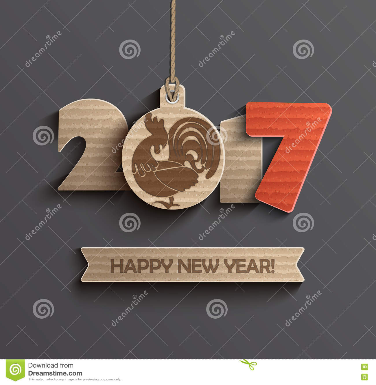 Symbol For Happy New Year 2017 Stock Vector Illustration Of