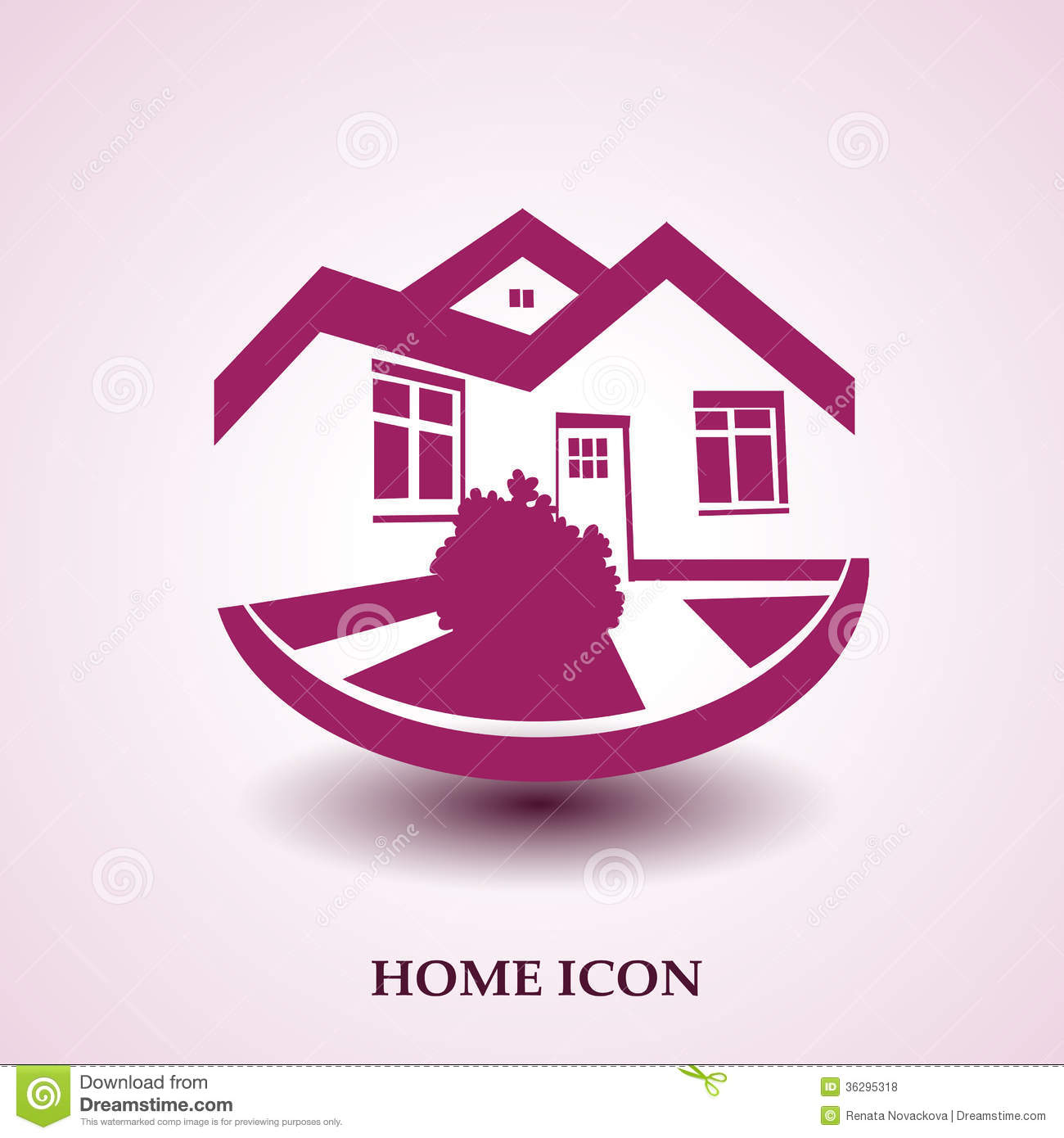 Symbol of home house icon realty silhouette real estate for Modern house logo