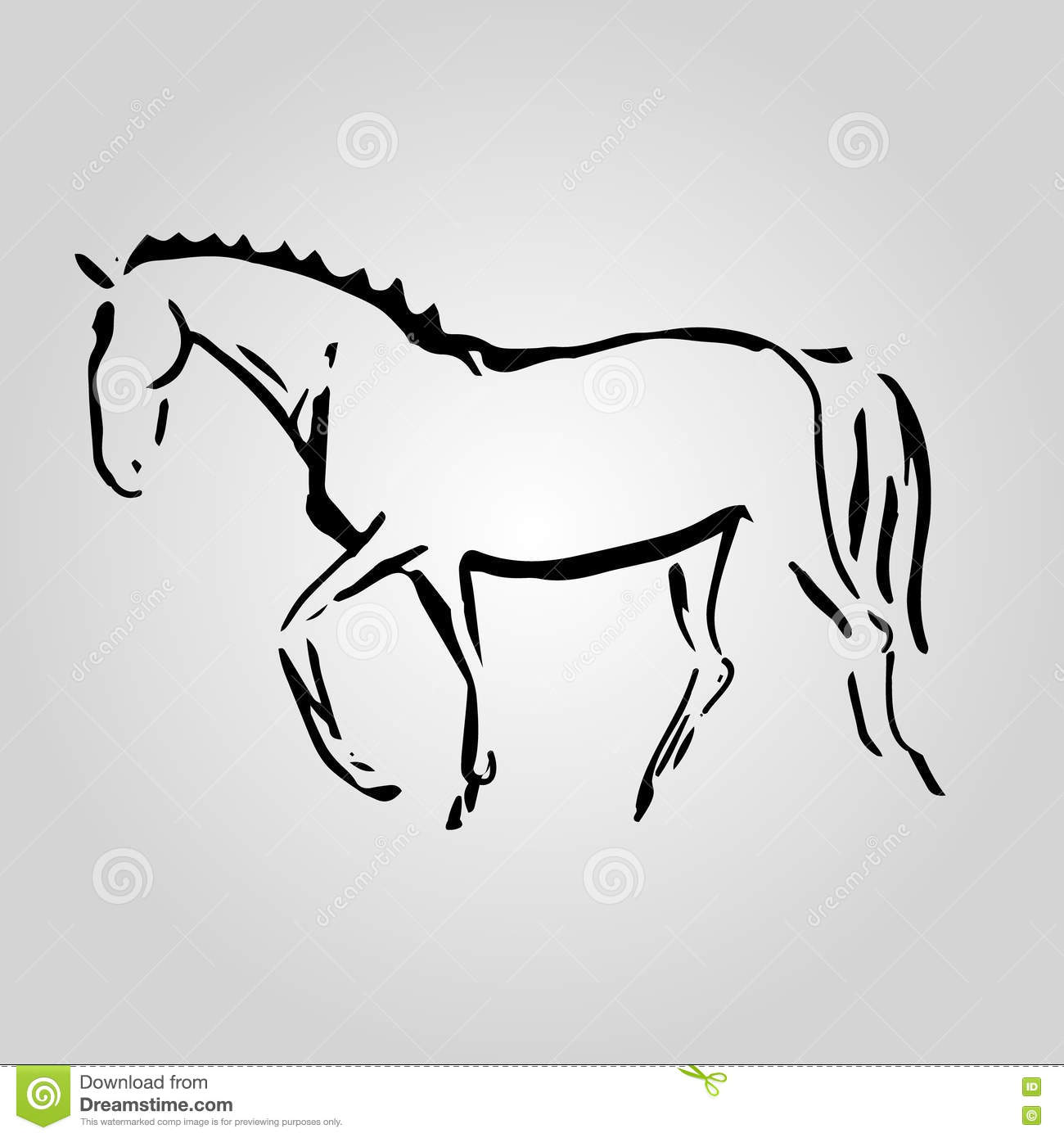 The Symbol Of The Horse 3 Stock Vector Illustration Of Animal