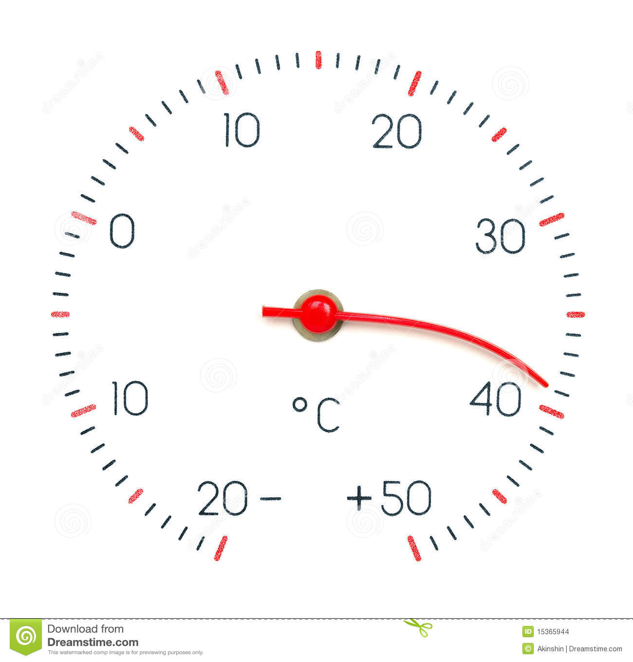 Symbol hot weather or global warming arrow of the thermometer melt