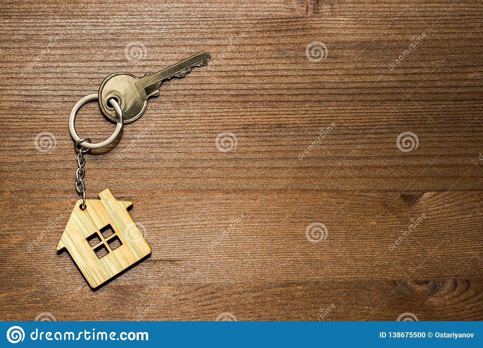 The Symbol Of The House In The Form Of A Keychain With A