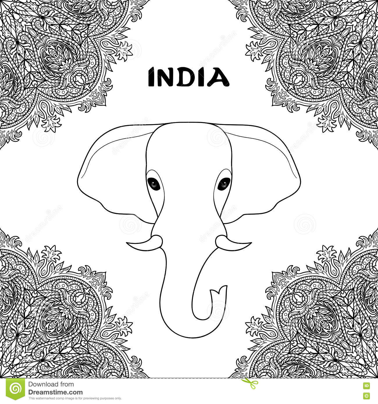 Symbol of india elephant stock vector illustration of mantra symbol of india elephant buycottarizona Images