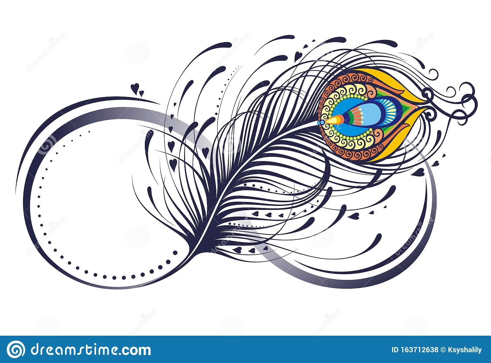 stylized symbol of infinitywith peacock feather vector element for your sketch stock vector illustration of tropical tattoo 163712638 https www dreamstime com symbol infinity peacock feather decorative composition hearts feather vector element your sketch tattoo stylized image163712638
