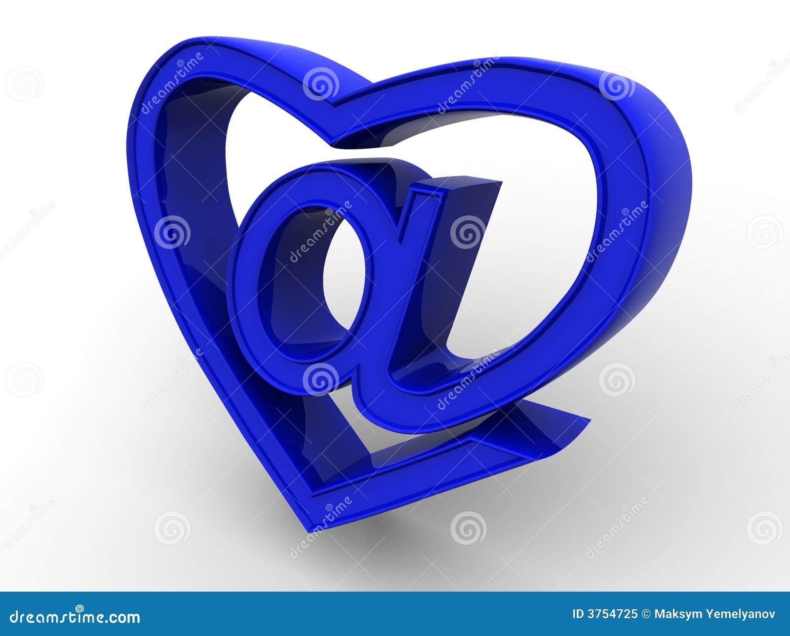 Symbol Of Internet As Heart Stock Illustration Illustration Of