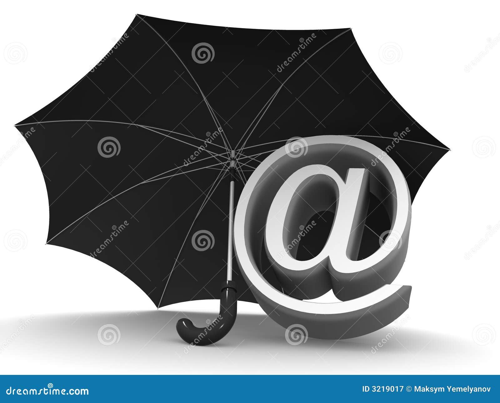 Symbol Of Internet Umbrella Stock Illustration Illustration Of
