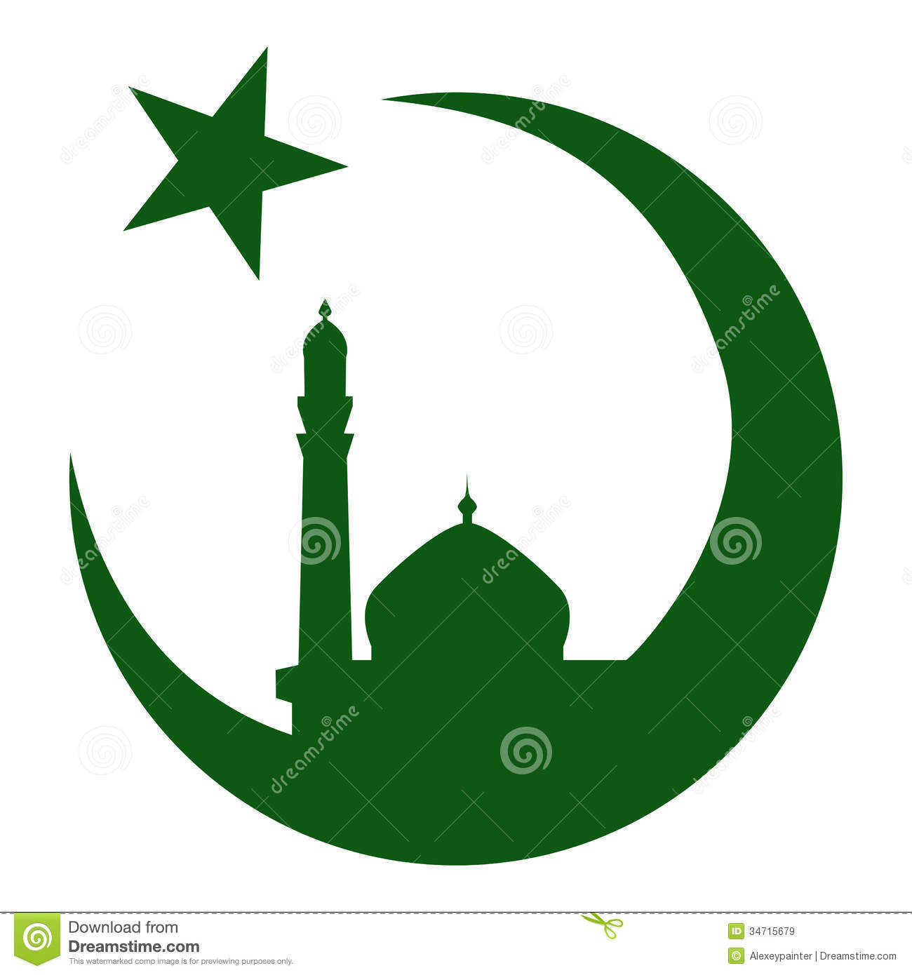 Symbol Of Islam And Mosque Ramadan Vector Eps10 Stock Vector