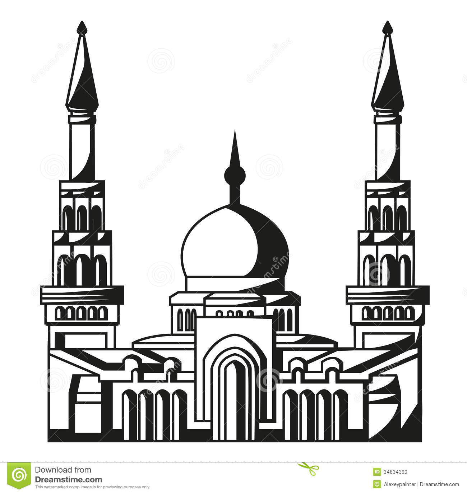 Symbol of islam silhouette of mosque ramadan ve stock vector symbol of islam silhouette of mosque ramadan ve buycottarizona