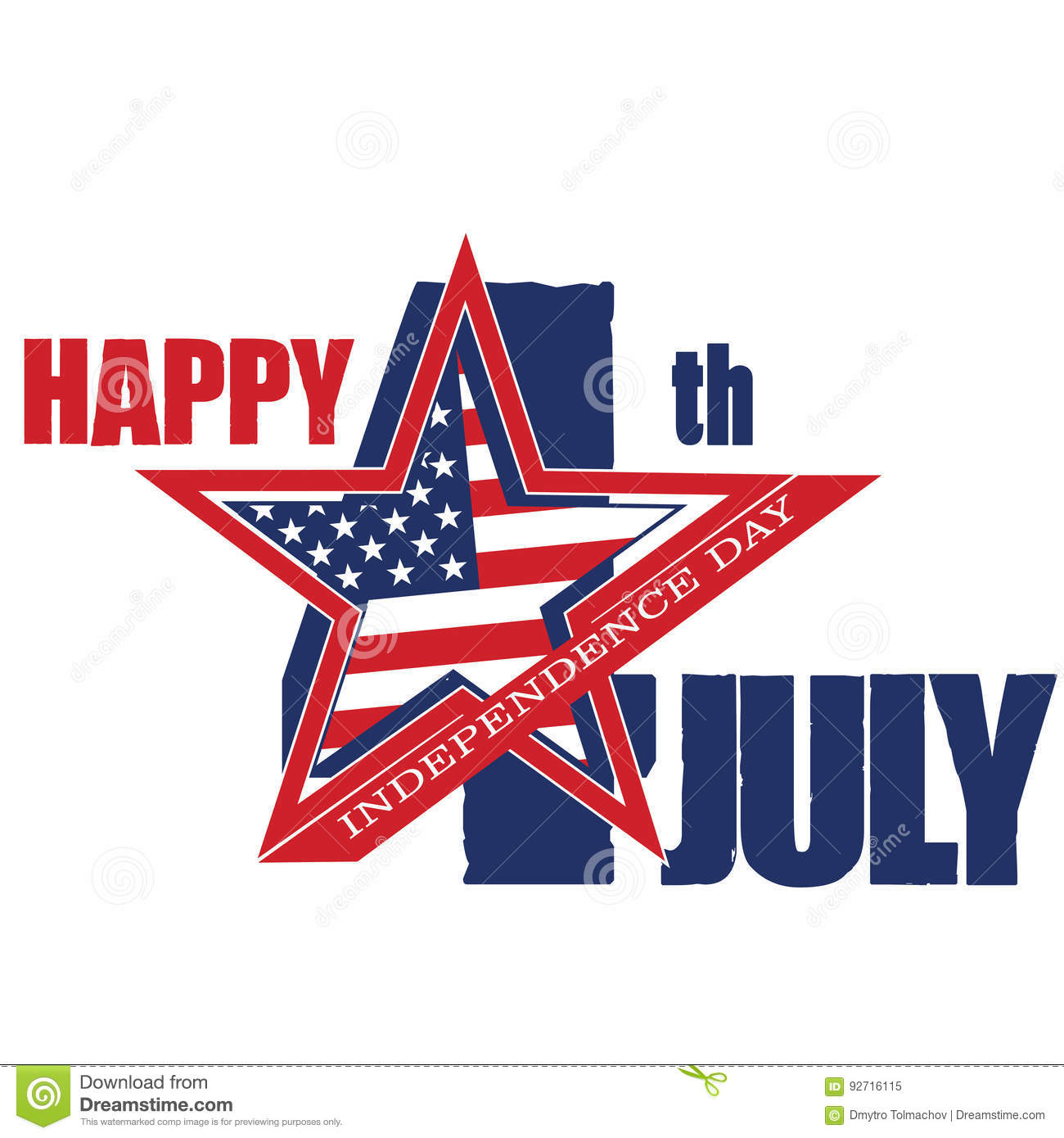Symbol Of July 4 Independence Day Stock Vector Illustration Of