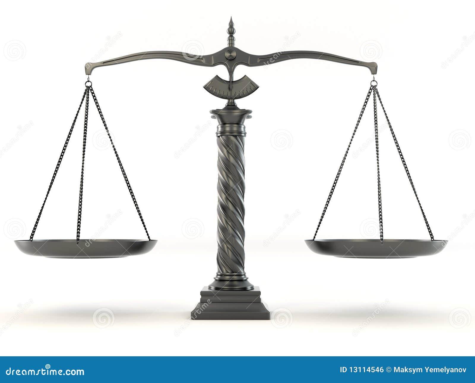 Symbol Of Justice Scale Stock Illustration Illustration Of