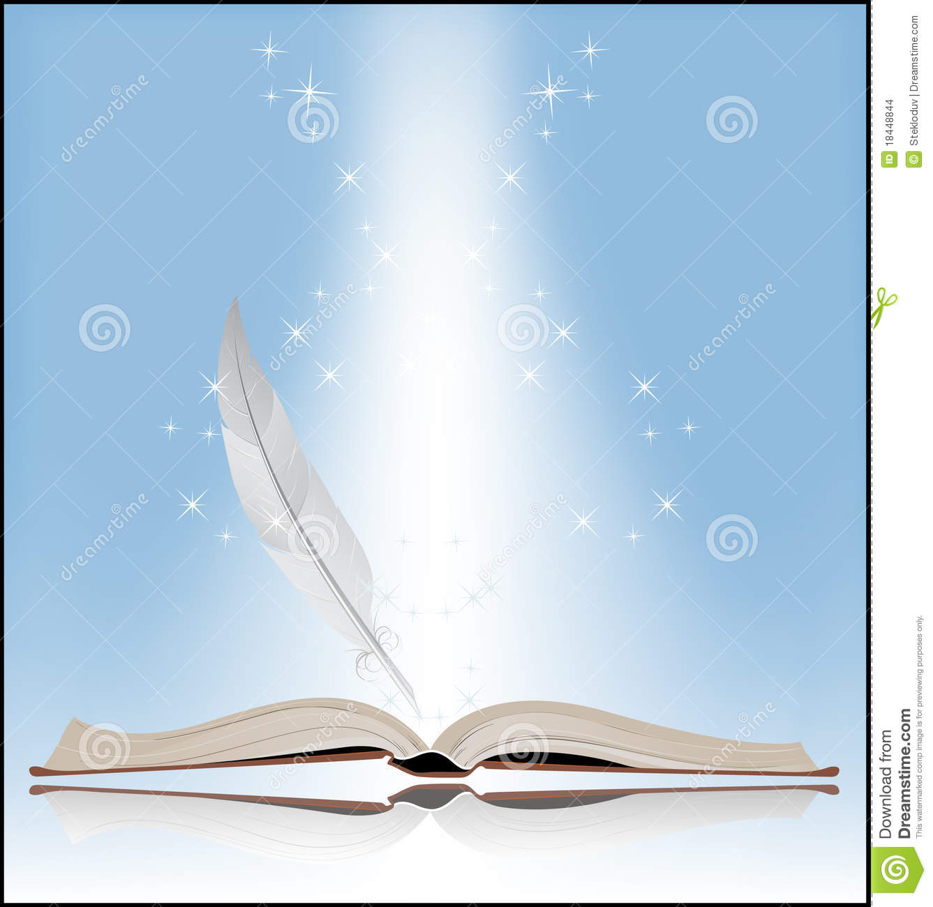 Symbol Of Knowledge Stock Vector Illustration Of Book 18448844