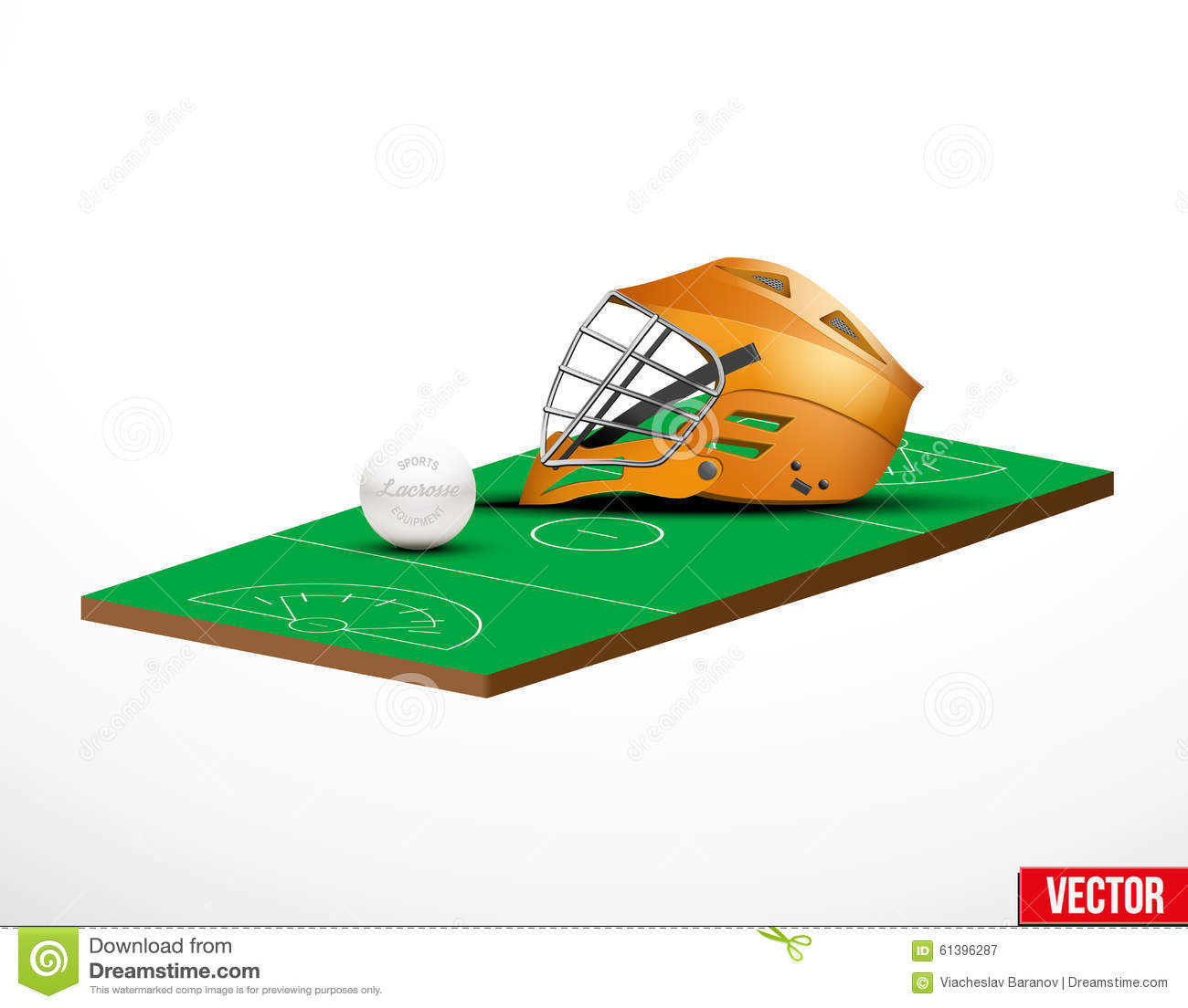 Symbol Of A Lacrosse Helmet And Field Stock Vector - Image ...